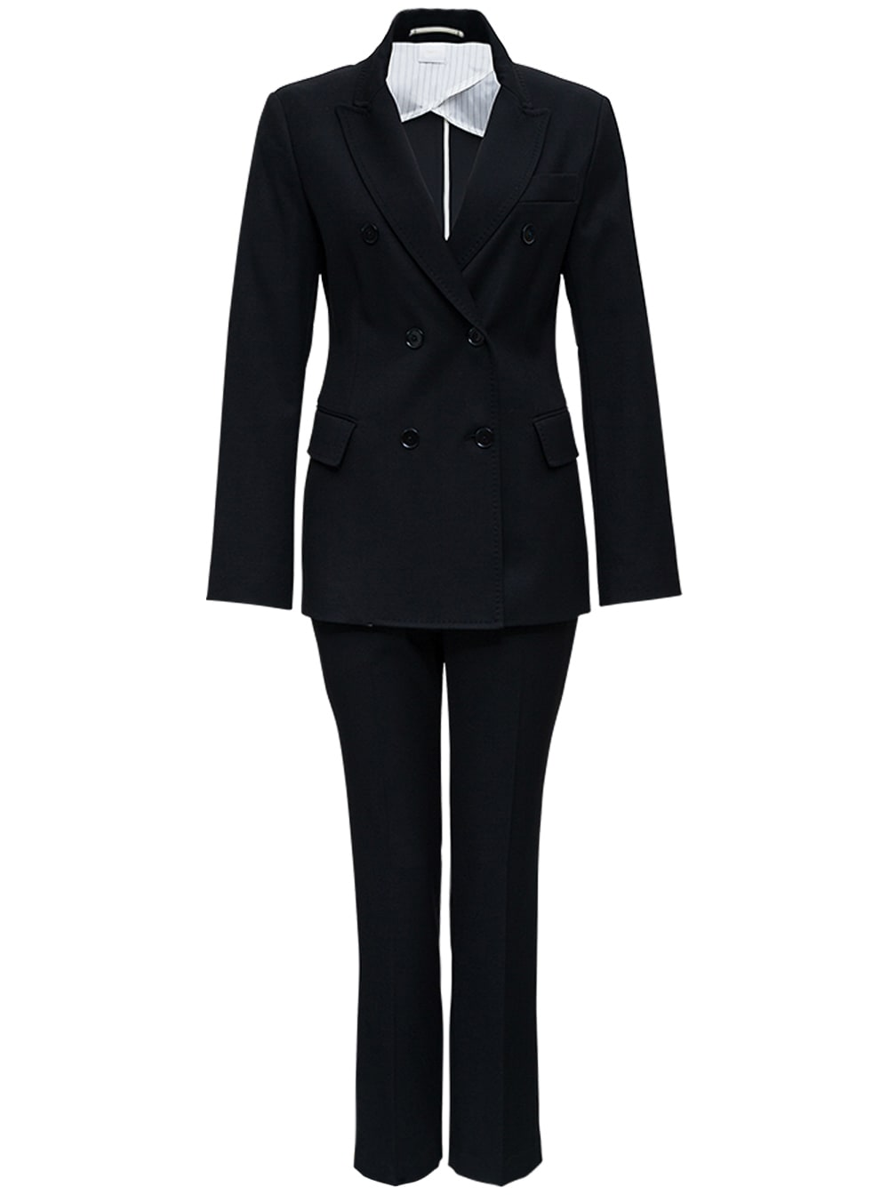 Black Double-breasted Tailored Suit