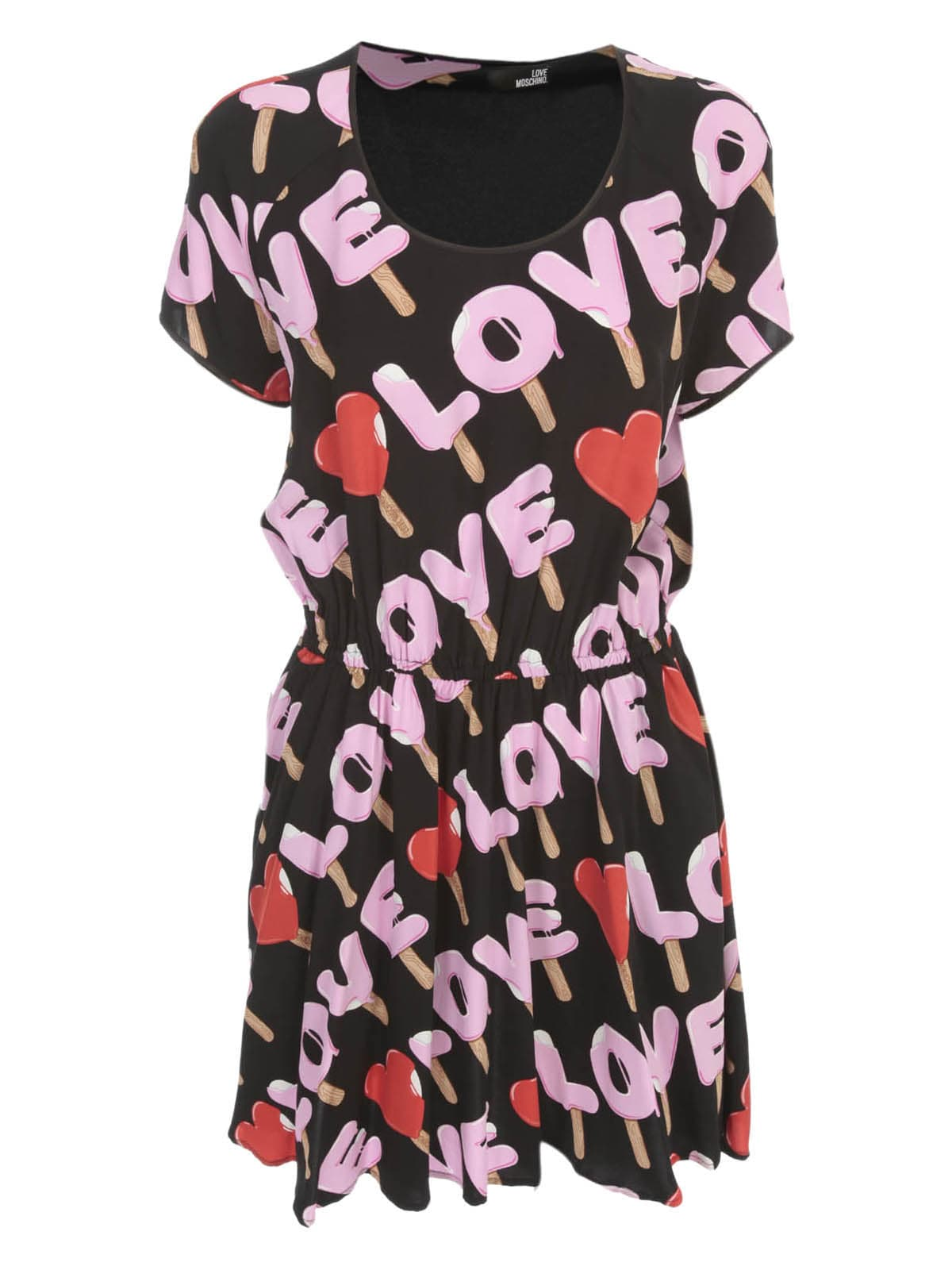 Buy Love Moschino Dress S/s W/ice Cream online, shop Love Moschino with free shipping