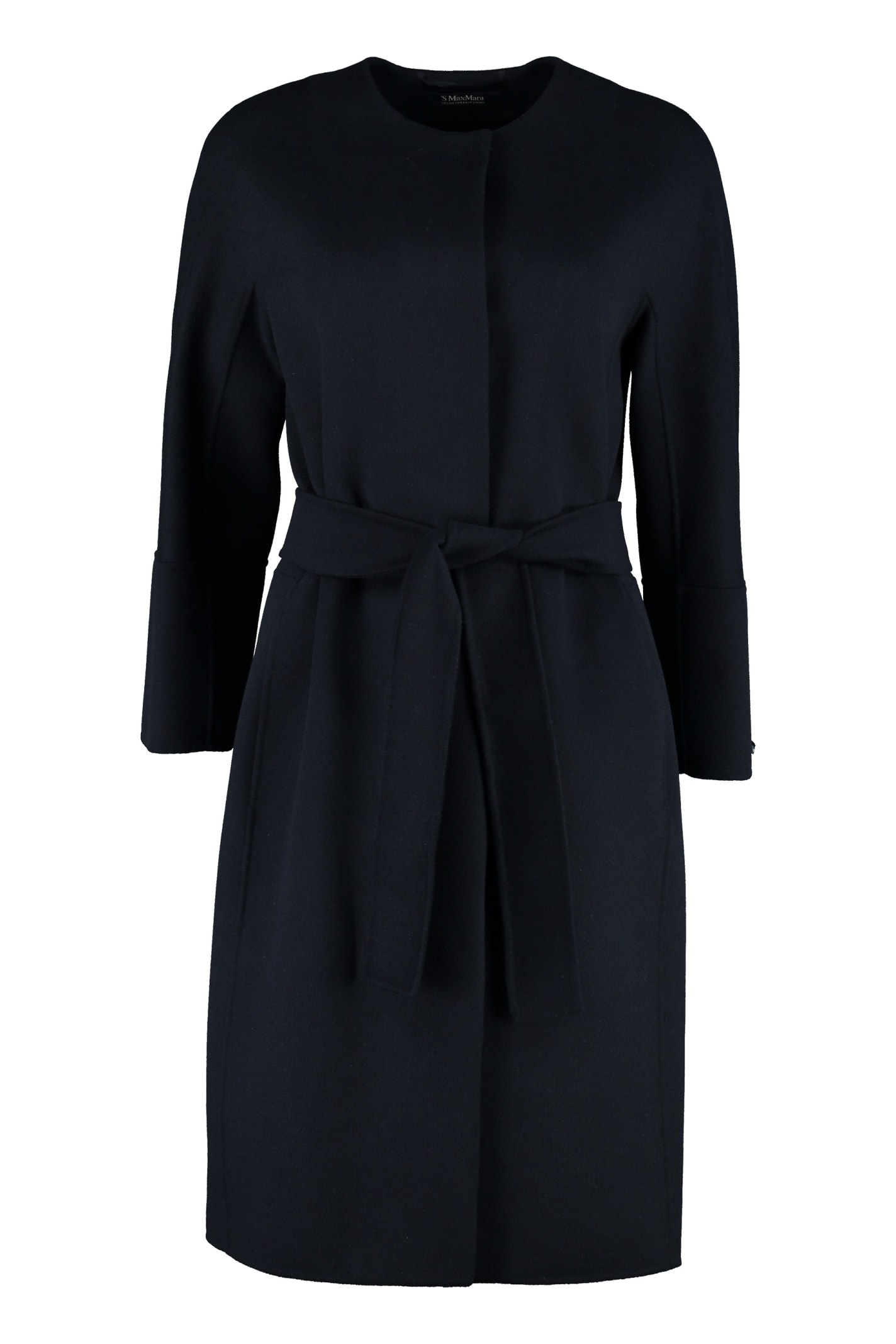 S Max Mara Here is The Cube Beirut Belted Long Coat