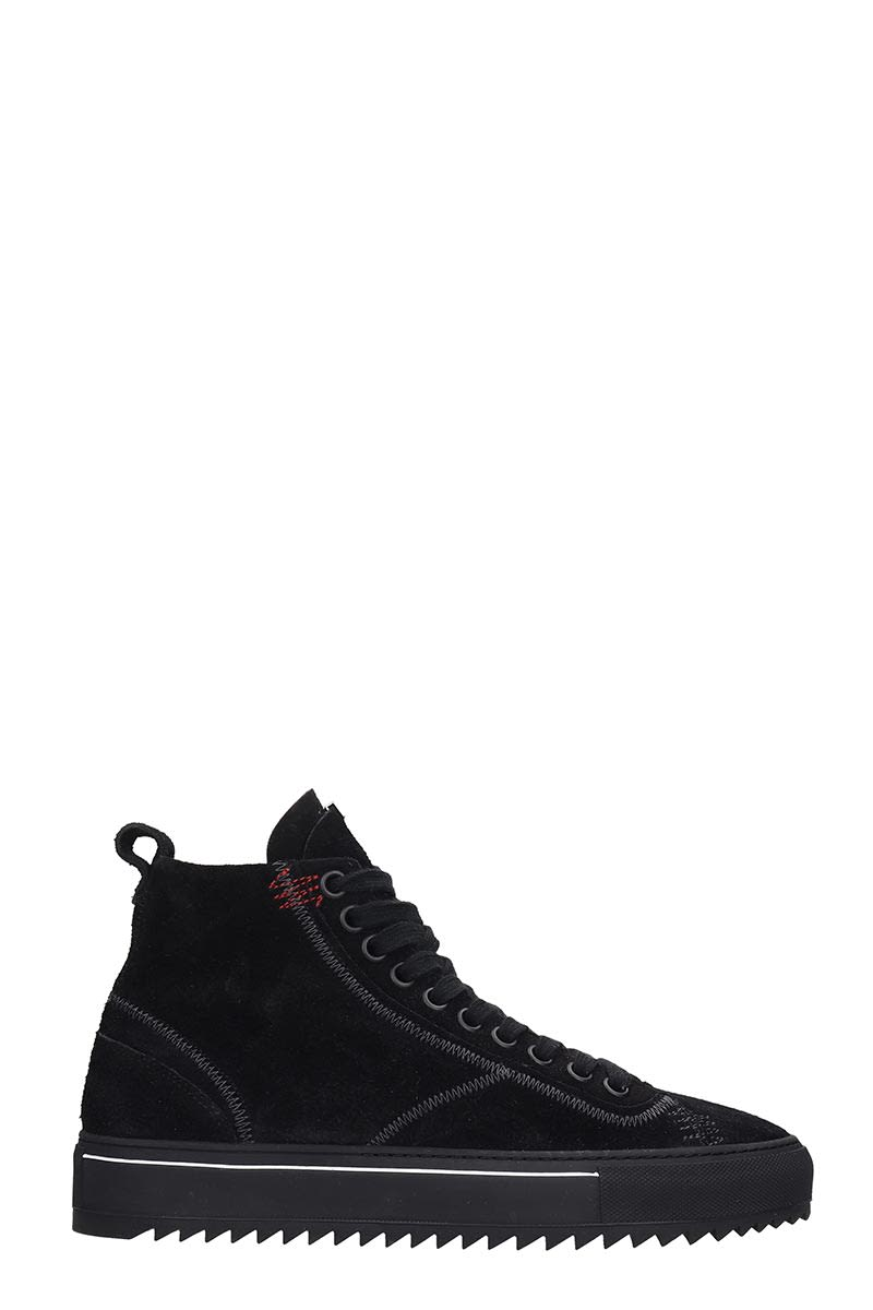 REPRESENT Alpha Boot Sneakers In Black Suede