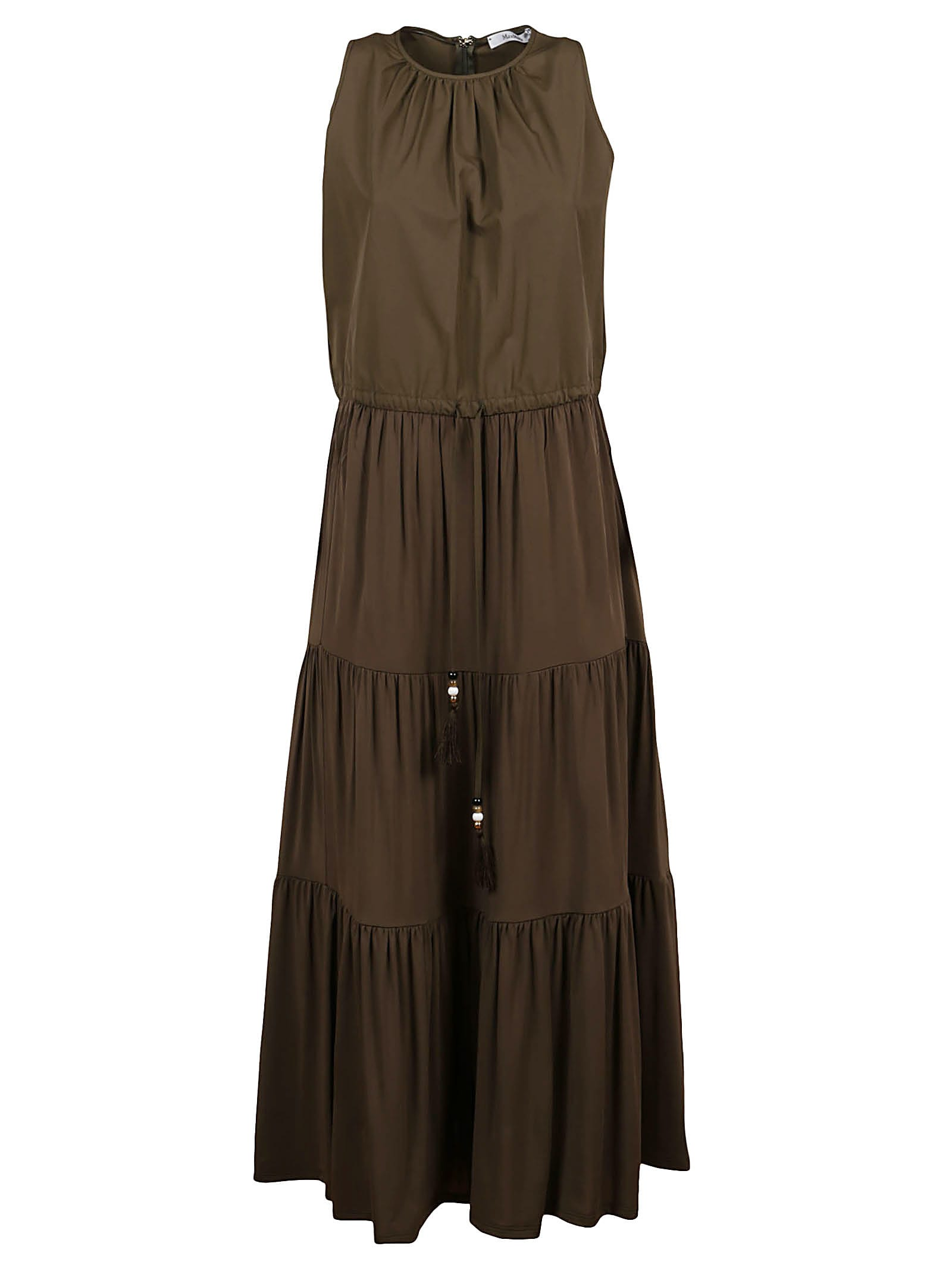 Buy Green Viscose Dress online, shop Max Mara with free shipping