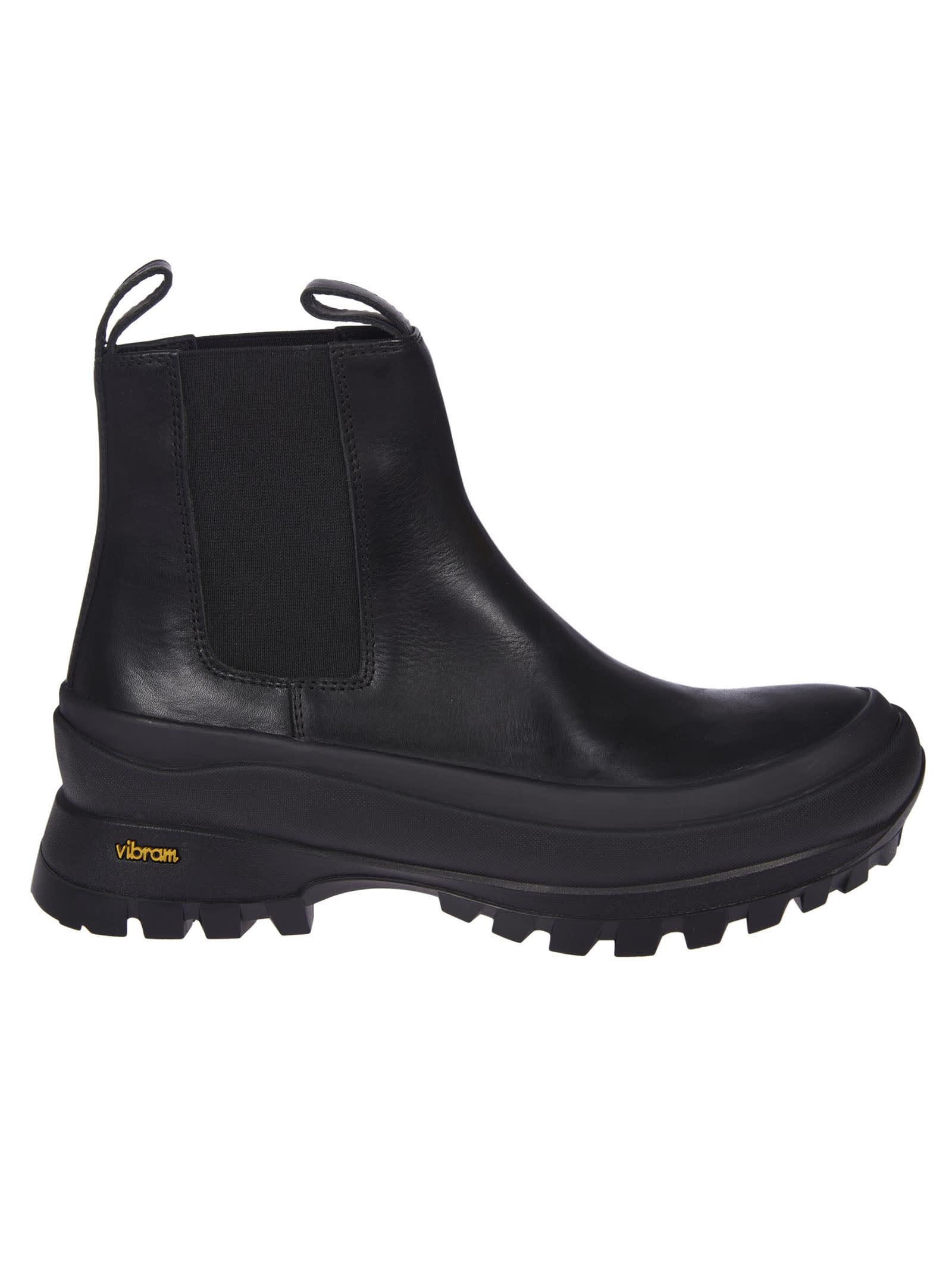 Buy Jil Sander Elasticated Side Panel Ankle Boots online, shop Jil Sander shoes with free shipping