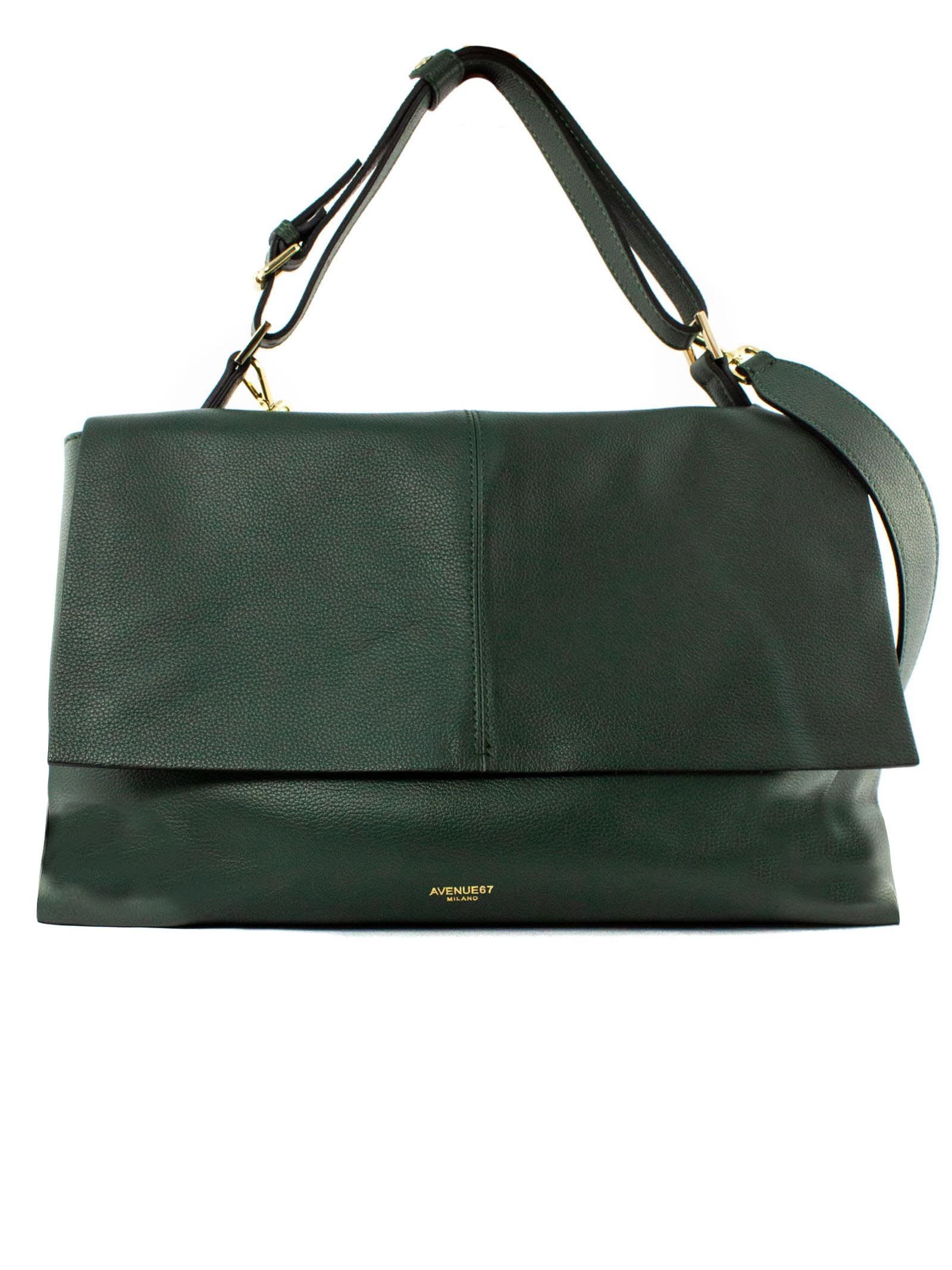 Elettra Giant Bag In Soft Green Leather