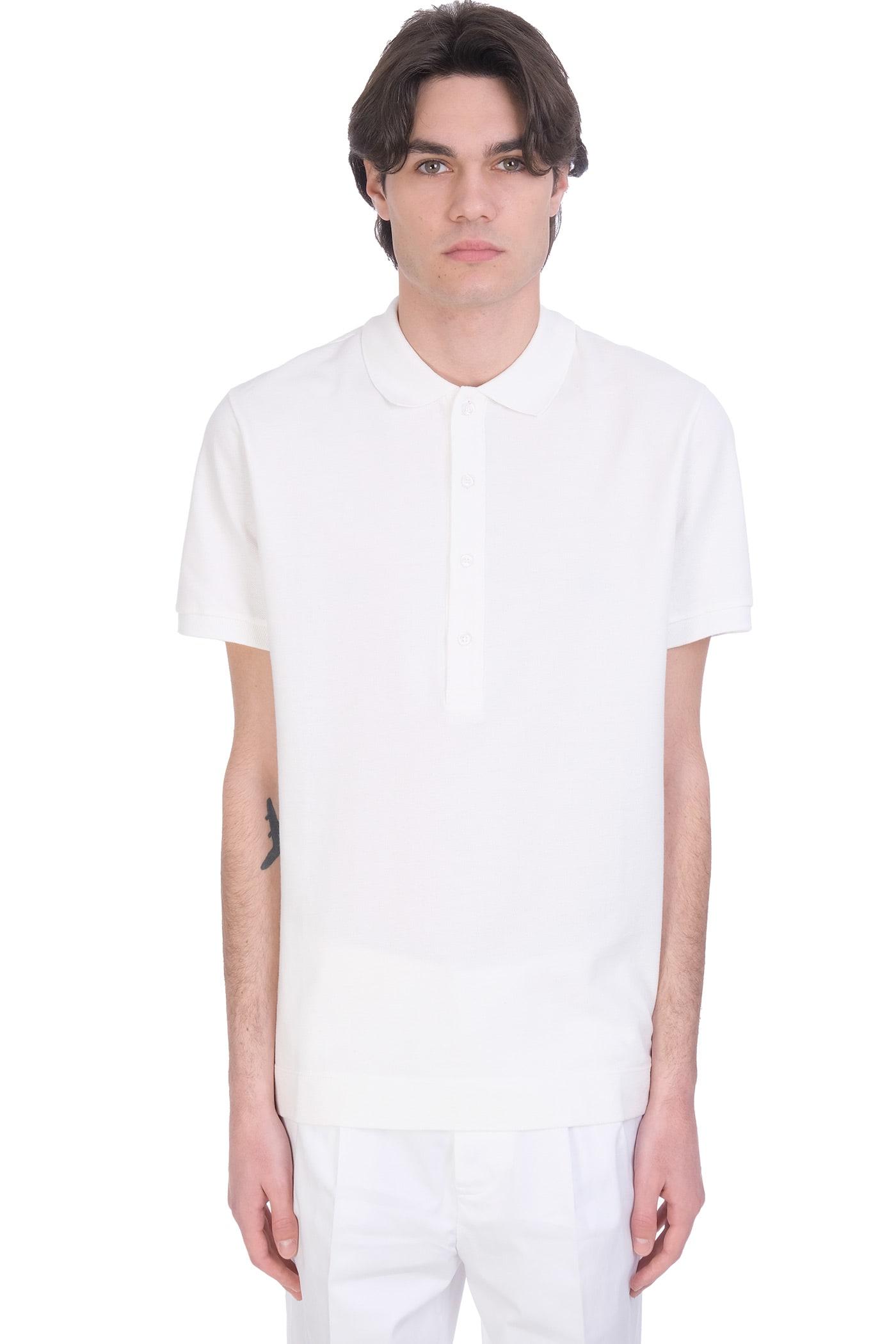 Polo In White Cotton