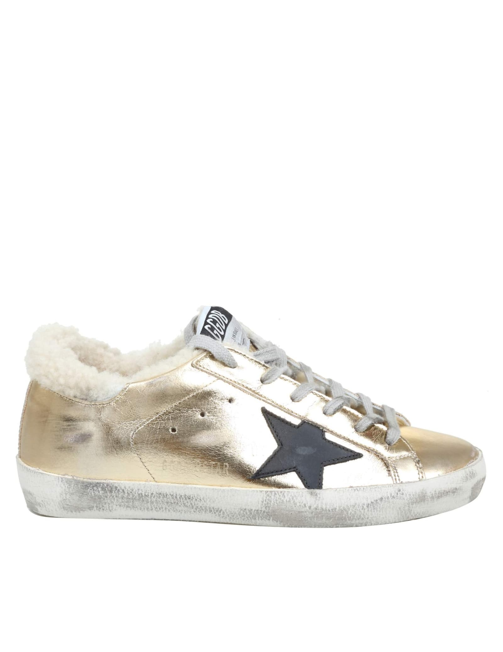 Golden Goose Superstar Sneakers In Leather And Shearling