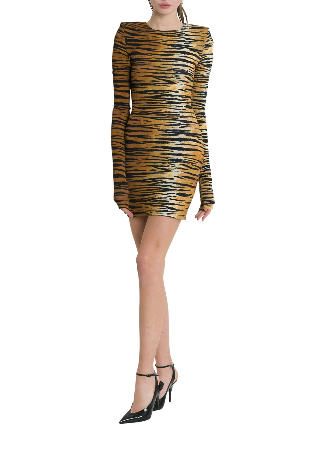 Alexandre Vauthier Tiger Printed Mini Dress