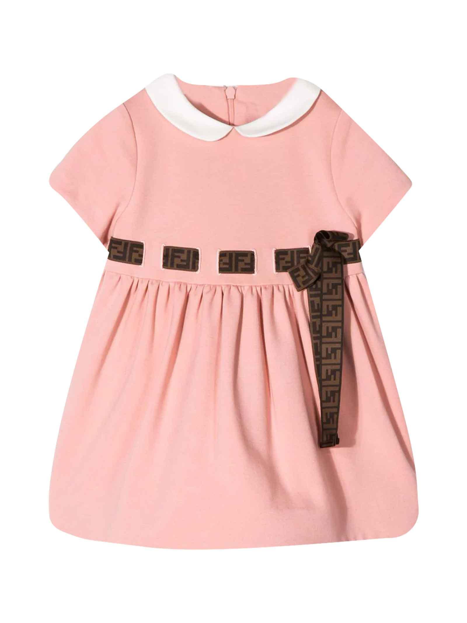 Buy Fendi Pink Dress online, shop Fendi with free shipping