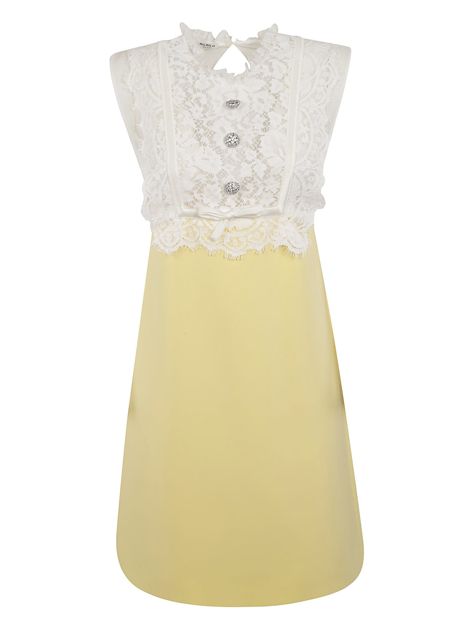 Buy Miu Miu Laced Top Dress online, shop Miu Miu with free shipping