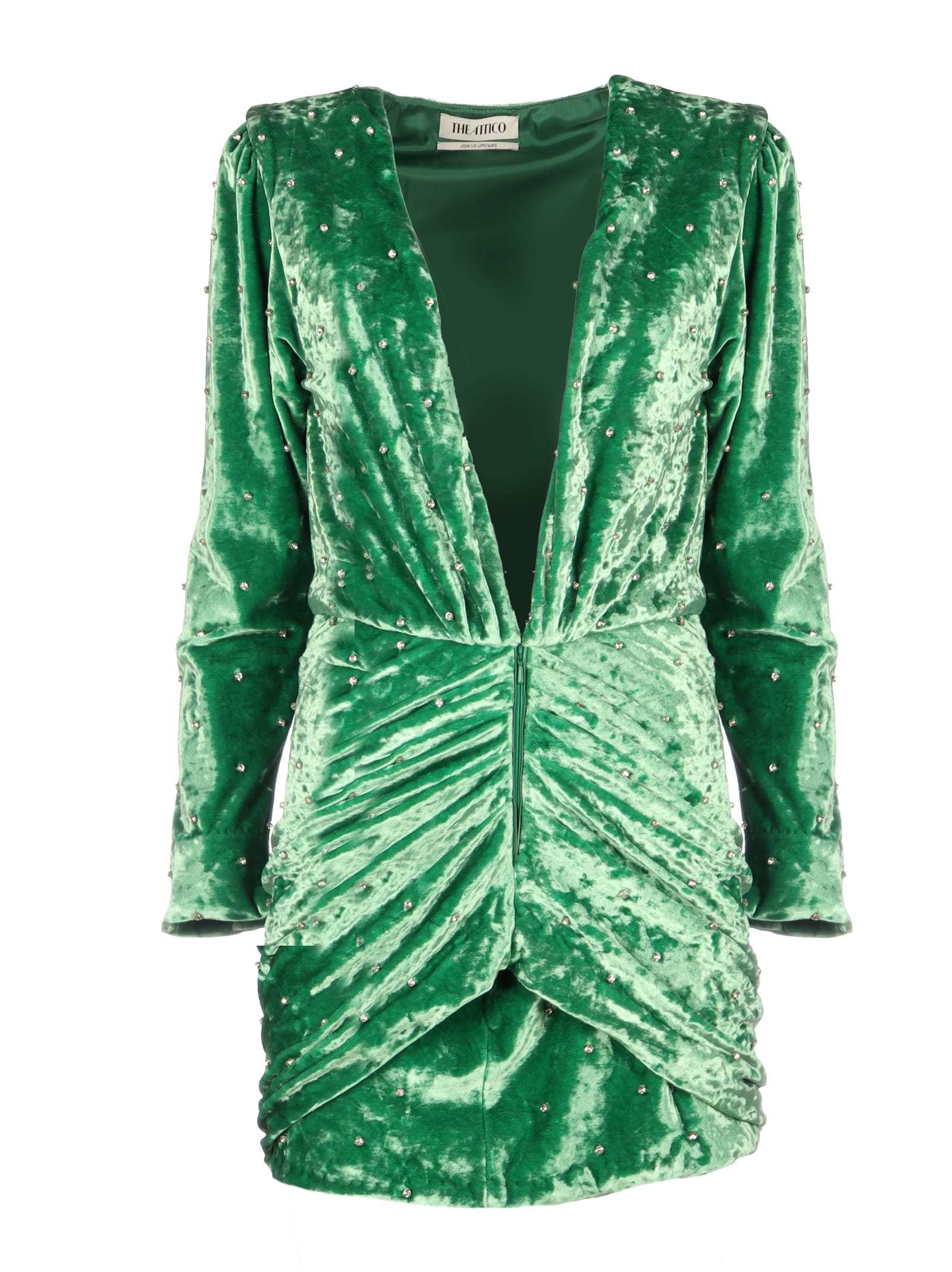 The Attico Karolina Mini Dress Velvet