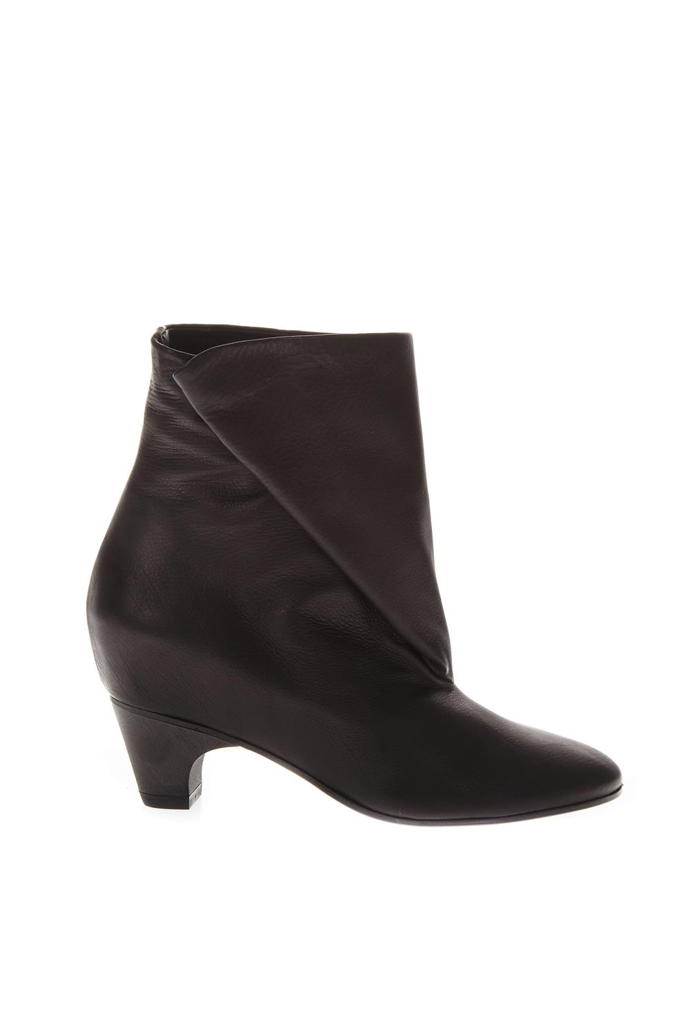 Black Spider Folded Leather Boots