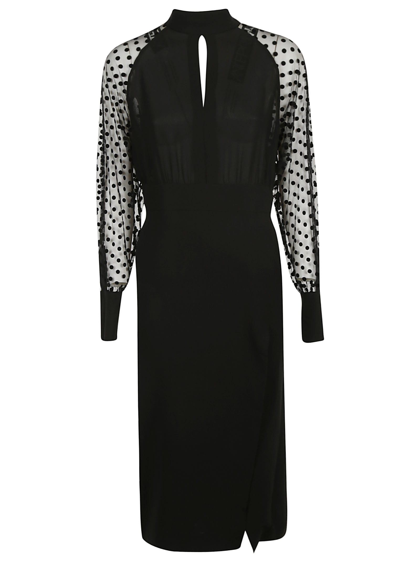 Balmain See-through Sleeveless Long Length Dress