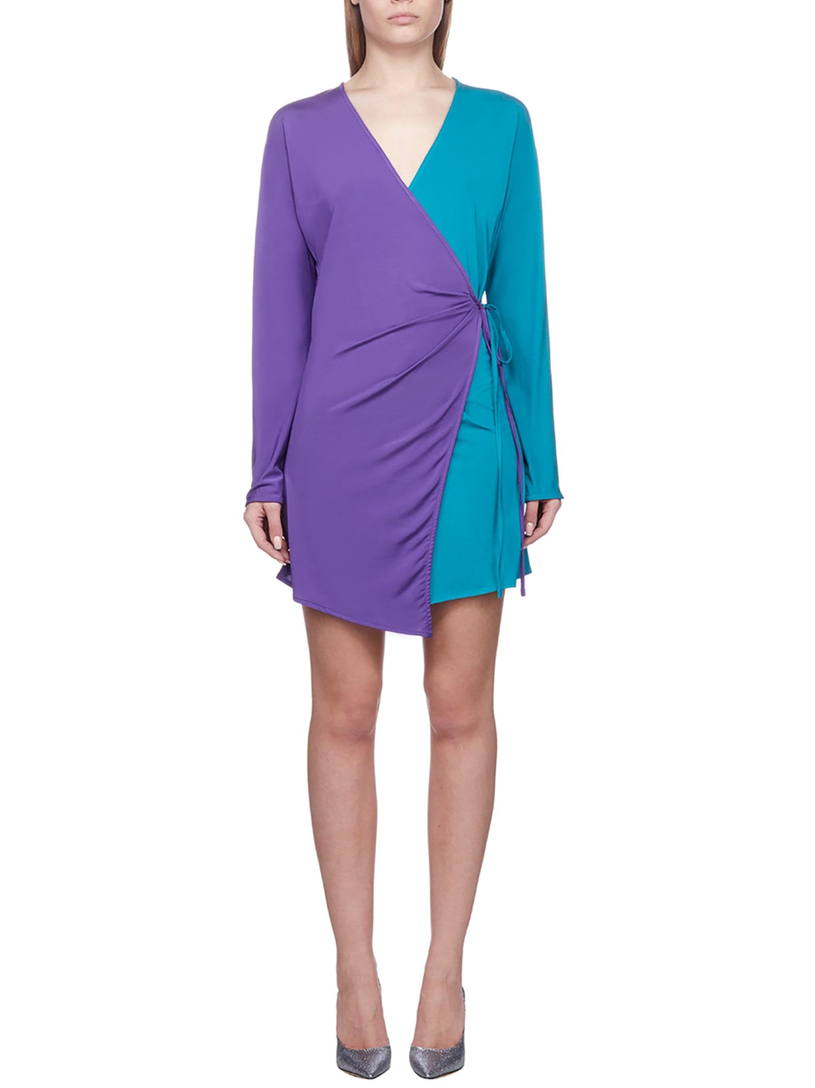 Buy The Attico Bicolor Dress online, shop The Attico with free shipping