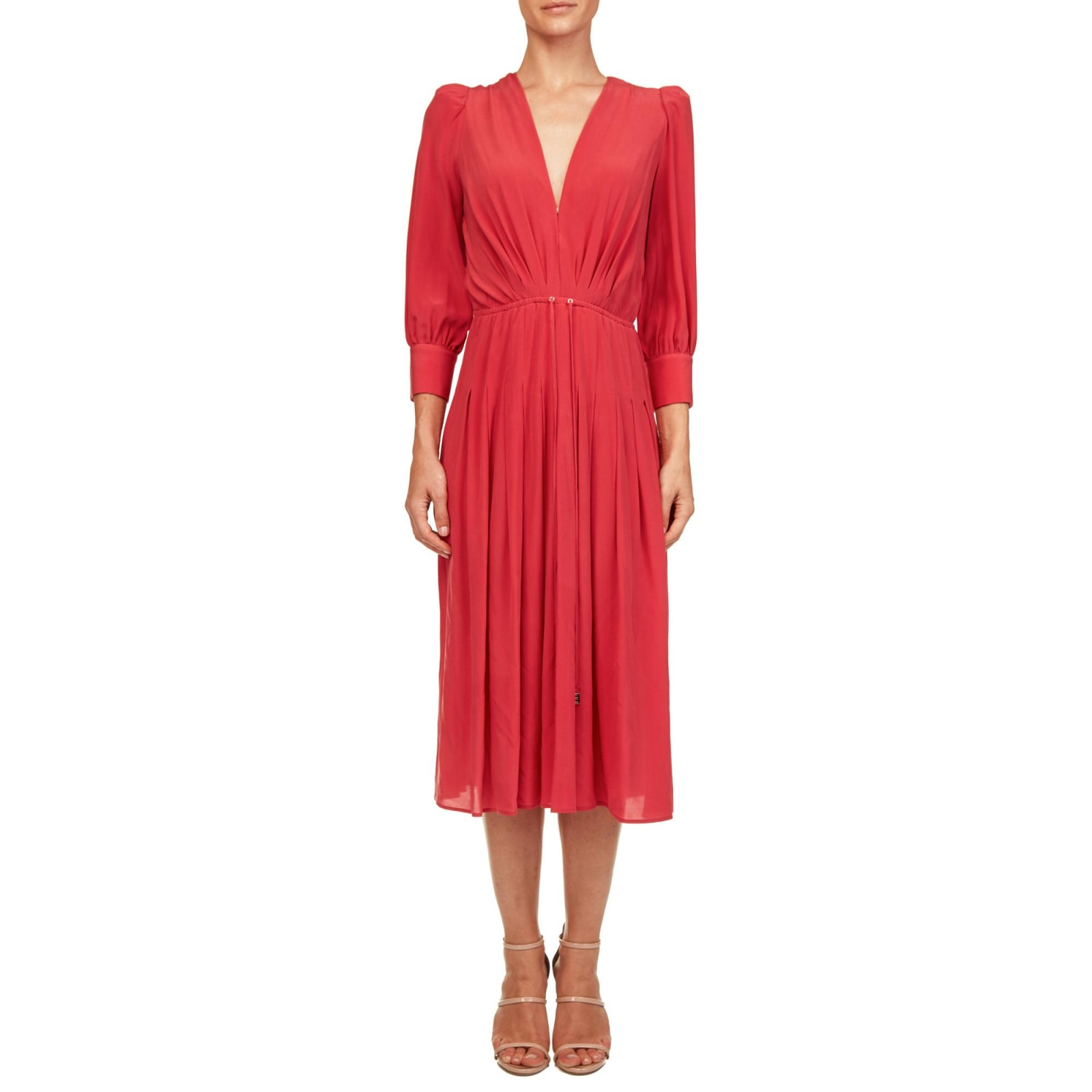 Elisabetta Franchi Silk Midi Dress