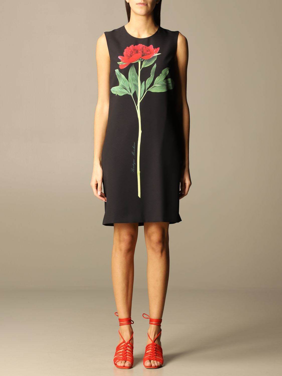 Boutique Moschino Dress Moschino Boutique Short Dress In Viscose With Flower Print