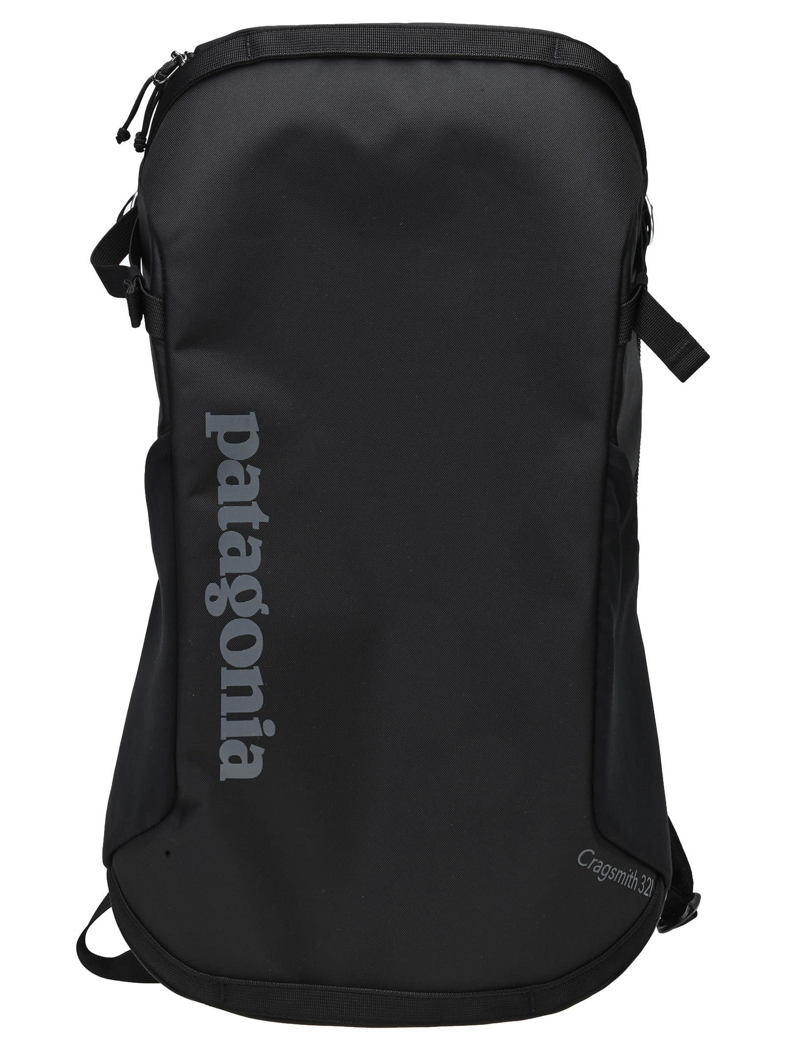 Black Logo Backpack By Patagonia Featuring: - Squared Shape - Adjustable Shoulder Straps - All-around Zip Fastening - Logo Printed On The Front - Multiple Zip-fastening PocketsComposition: 100% NYLON