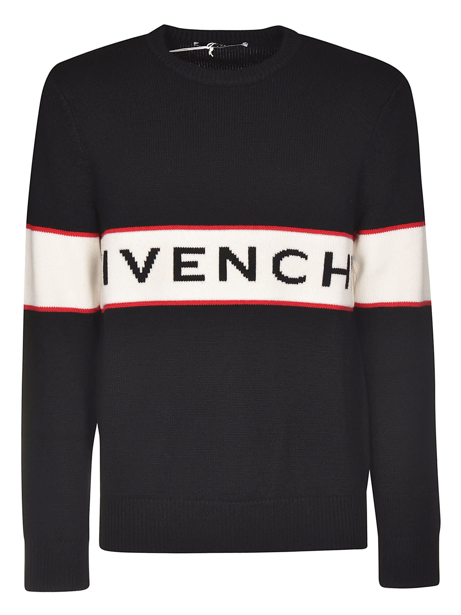 Givenchy Contrasted Band Jumper - Black