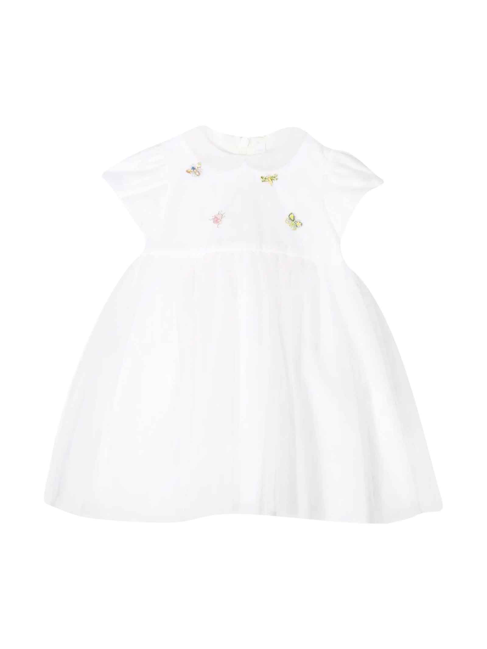 Buy Il Gufo Kids White Dress online, shop Il Gufo with free shipping