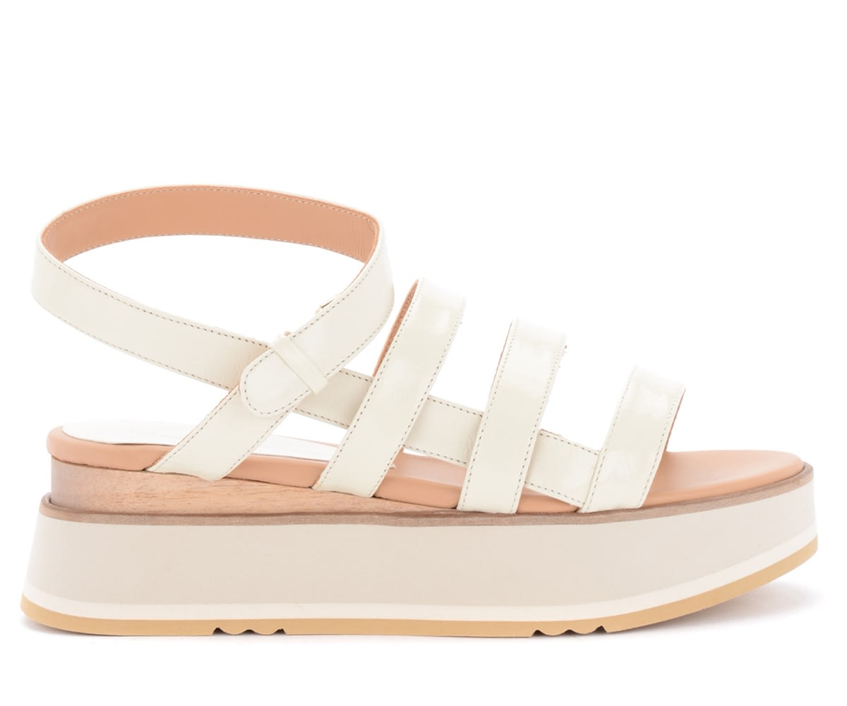 Paloma Barceló JURVA SANDALS IN IVORY LEATHER