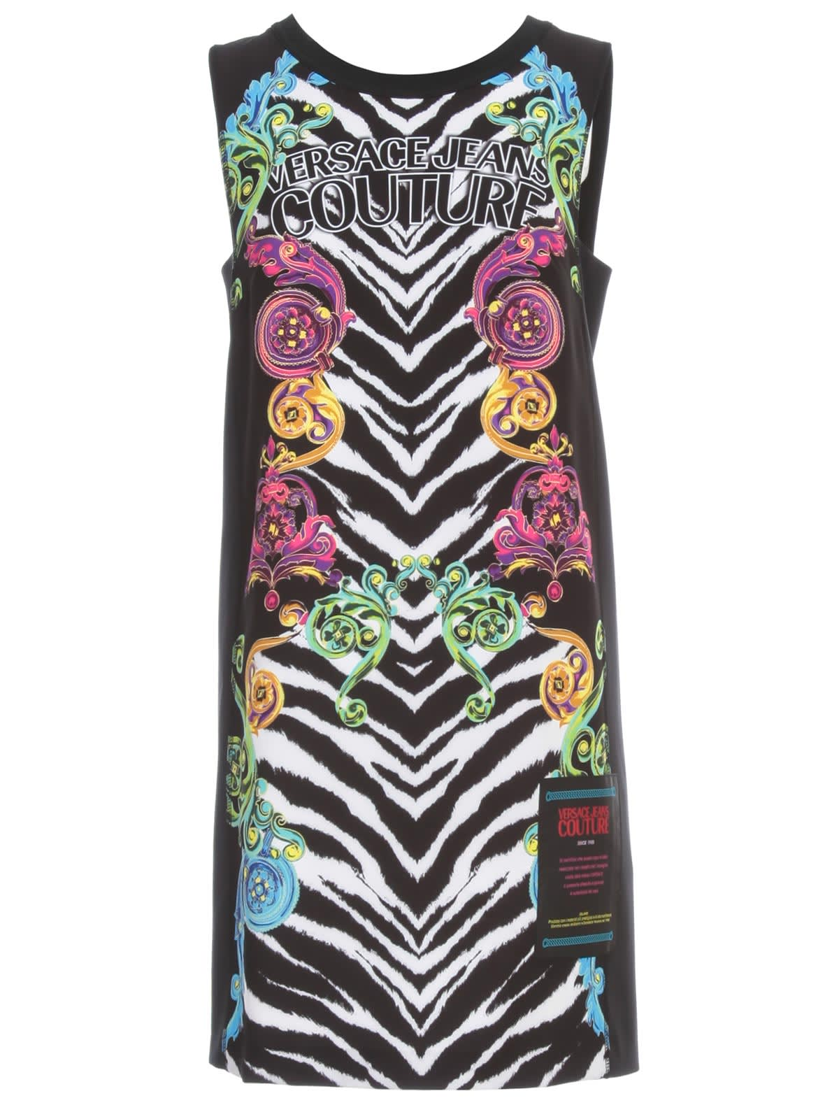 Buy Versace Jeans Couture Dress W/s Fantasy online, shop Versace Jeans Couture with free shipping
