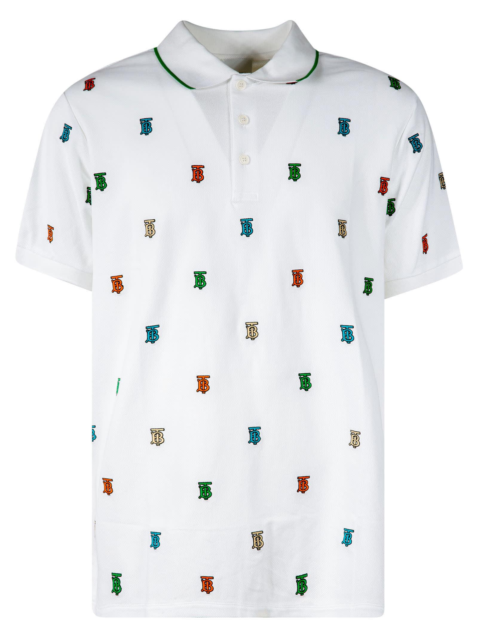 Burberry Logo Motif Polo Shirt