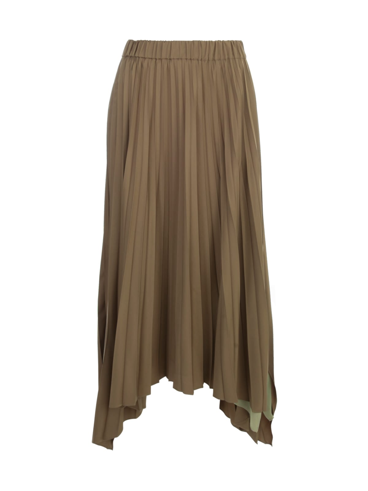 Antonelli LONG ASYMMETRICAL PLEATED SKIRT