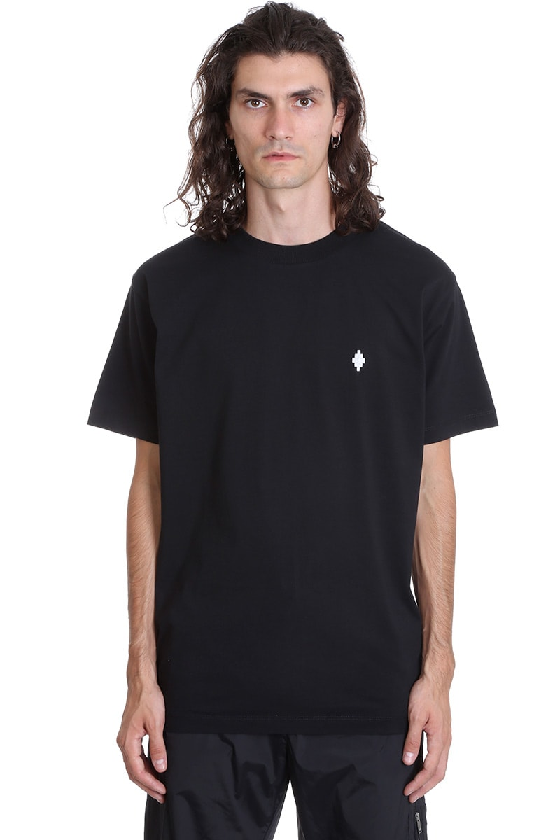 Marcelo Burlon Cross Basic T-shirt In Black Cotton