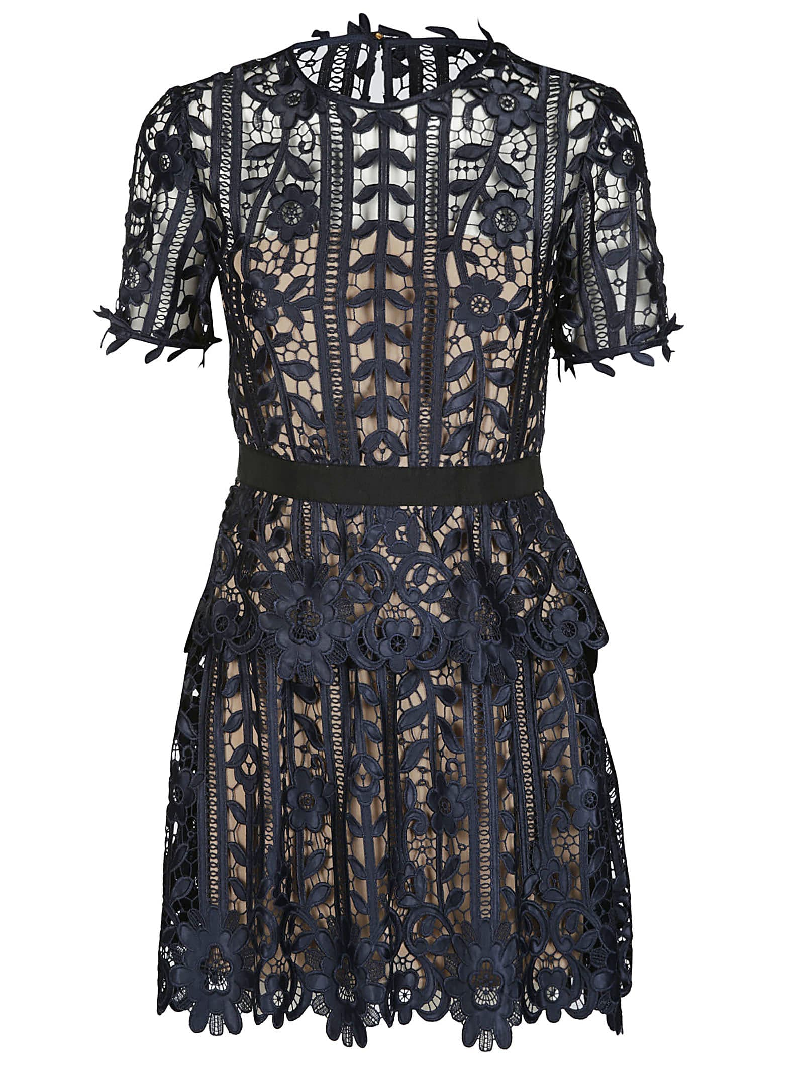 Buy self-portrait Scallop-edge Lace Midi Dress online, shop self-portrait with free shipping