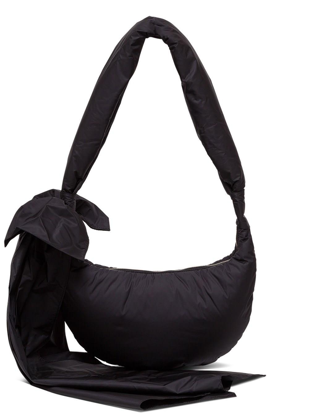 Red Valentino Obo Crossbody Bag In Nylon In Black