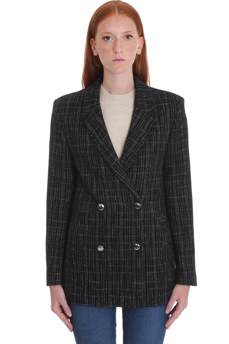 IRO Arnou Coat In Black Wool
