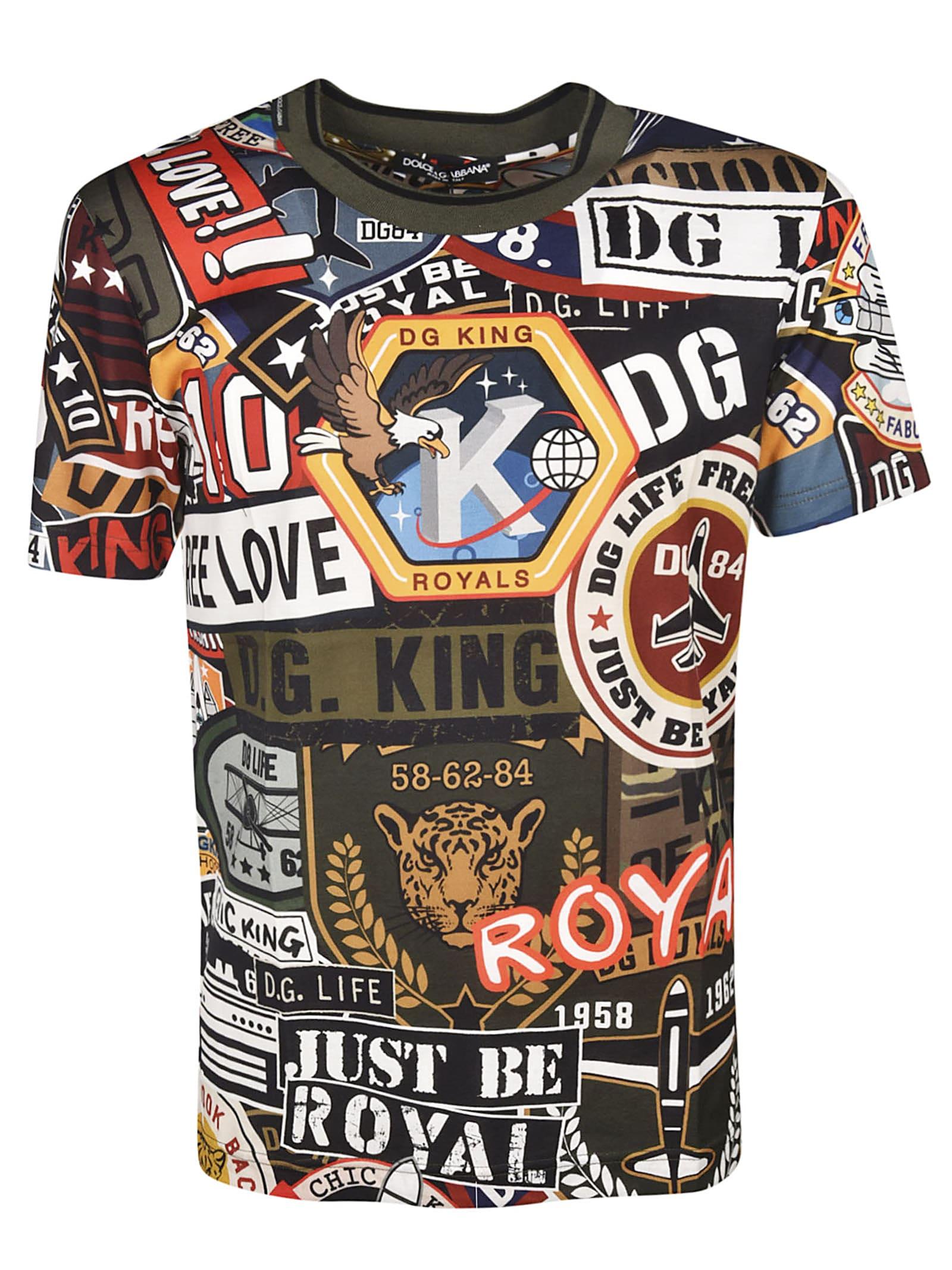 Dolce & Gabbana Militarys Dolce & Gabbana Military Print T-shirt