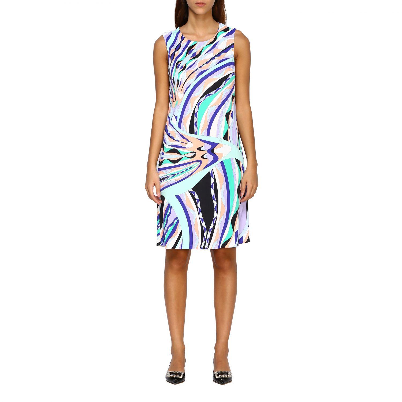 Buy Emilio Pucci Dress Emilio Pucci Sheath Dress With Print online, shop Emilio Pucci with free shipping