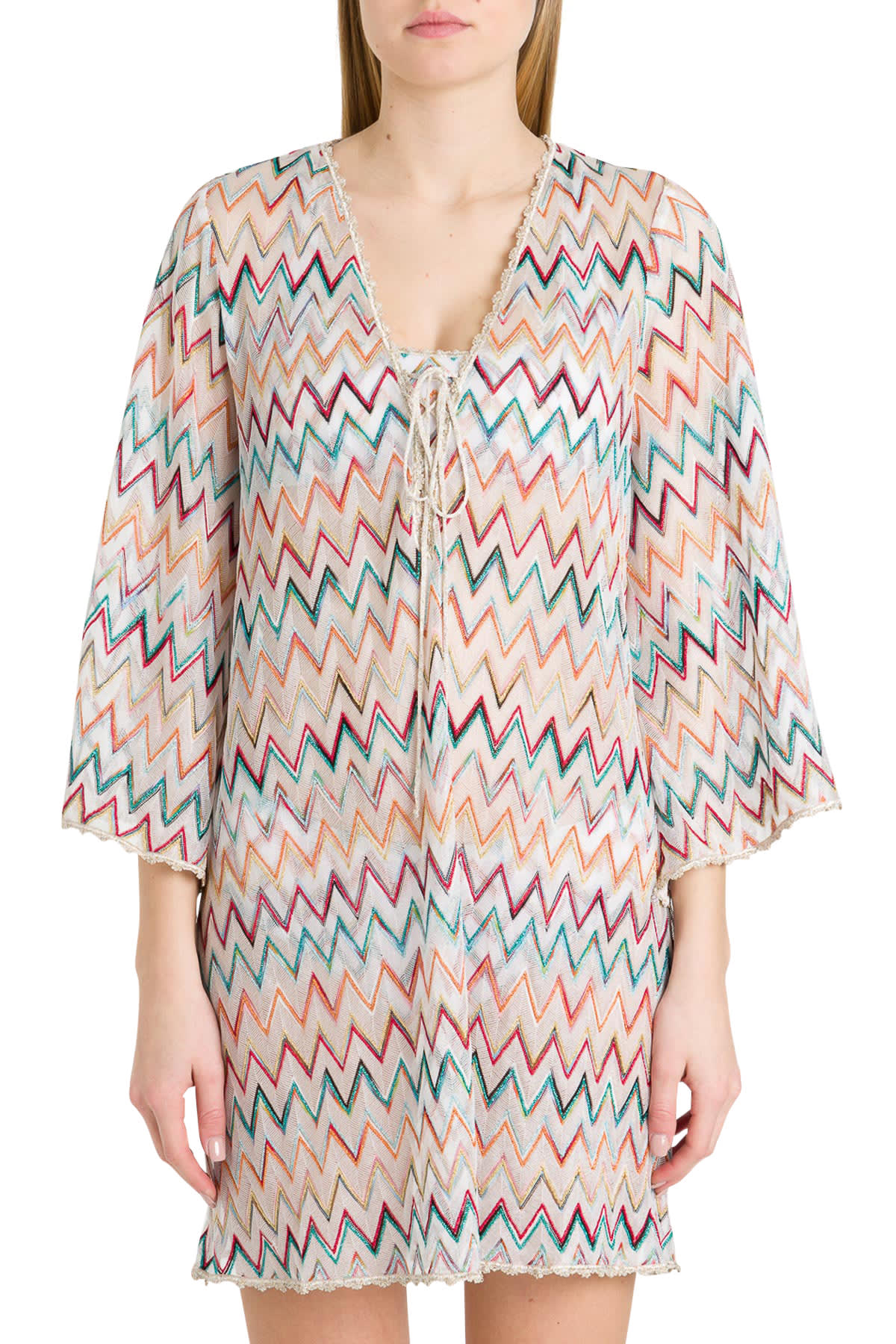 Buy Missoni Short Tunic Dress With Zigzag Motif online, shop Missoni with free shipping