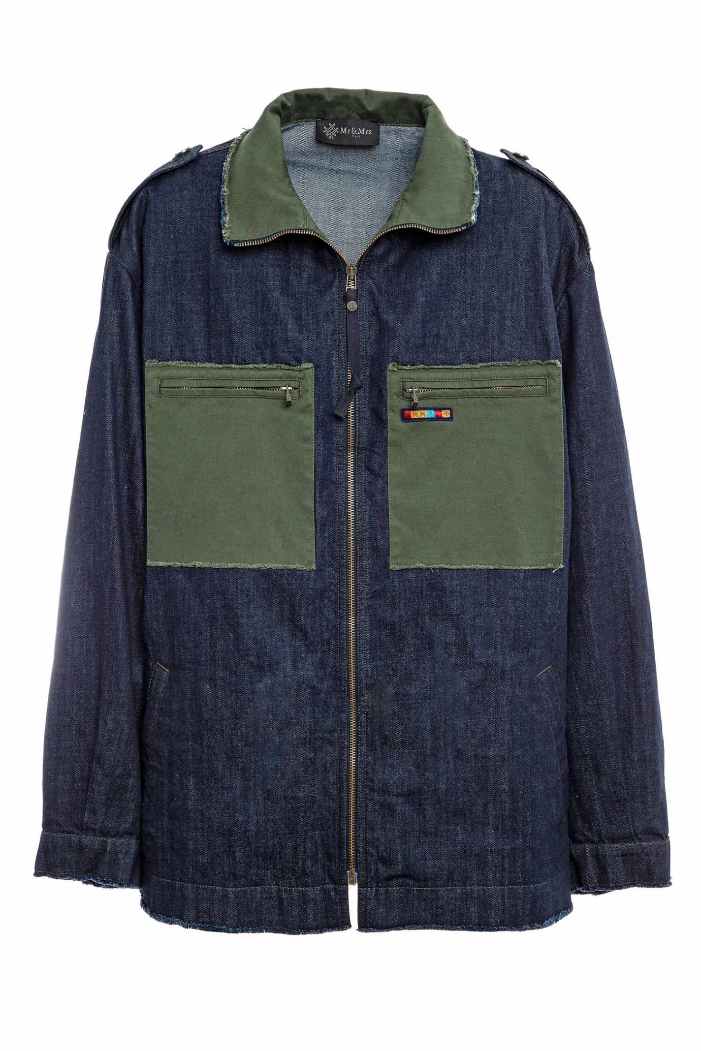 Denim And Cottoncavalry Work Jacket For Man
