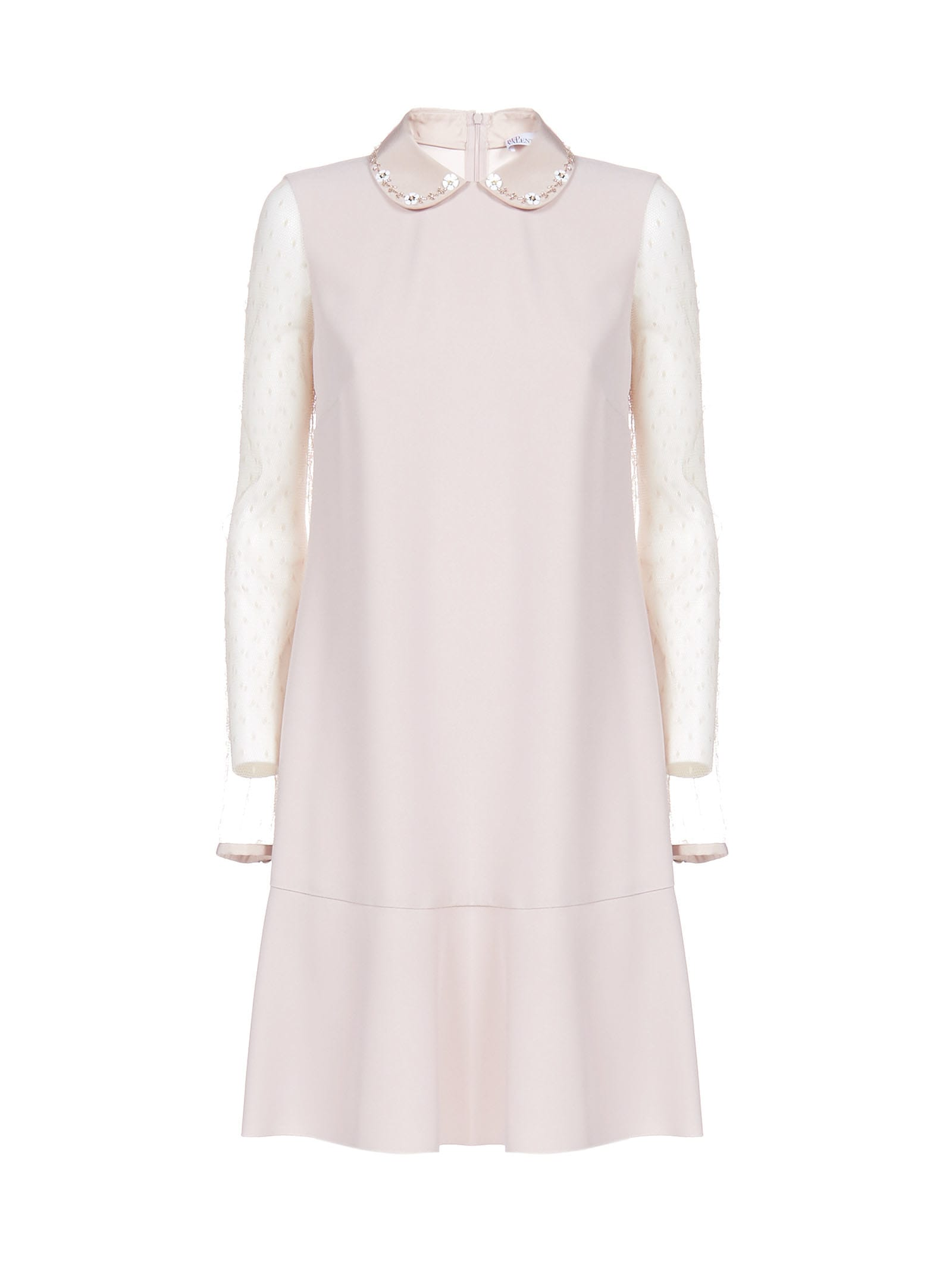 Buy RED Valentino Crepe Enverse Satin Dress online, shop RED Valentino with free shipping