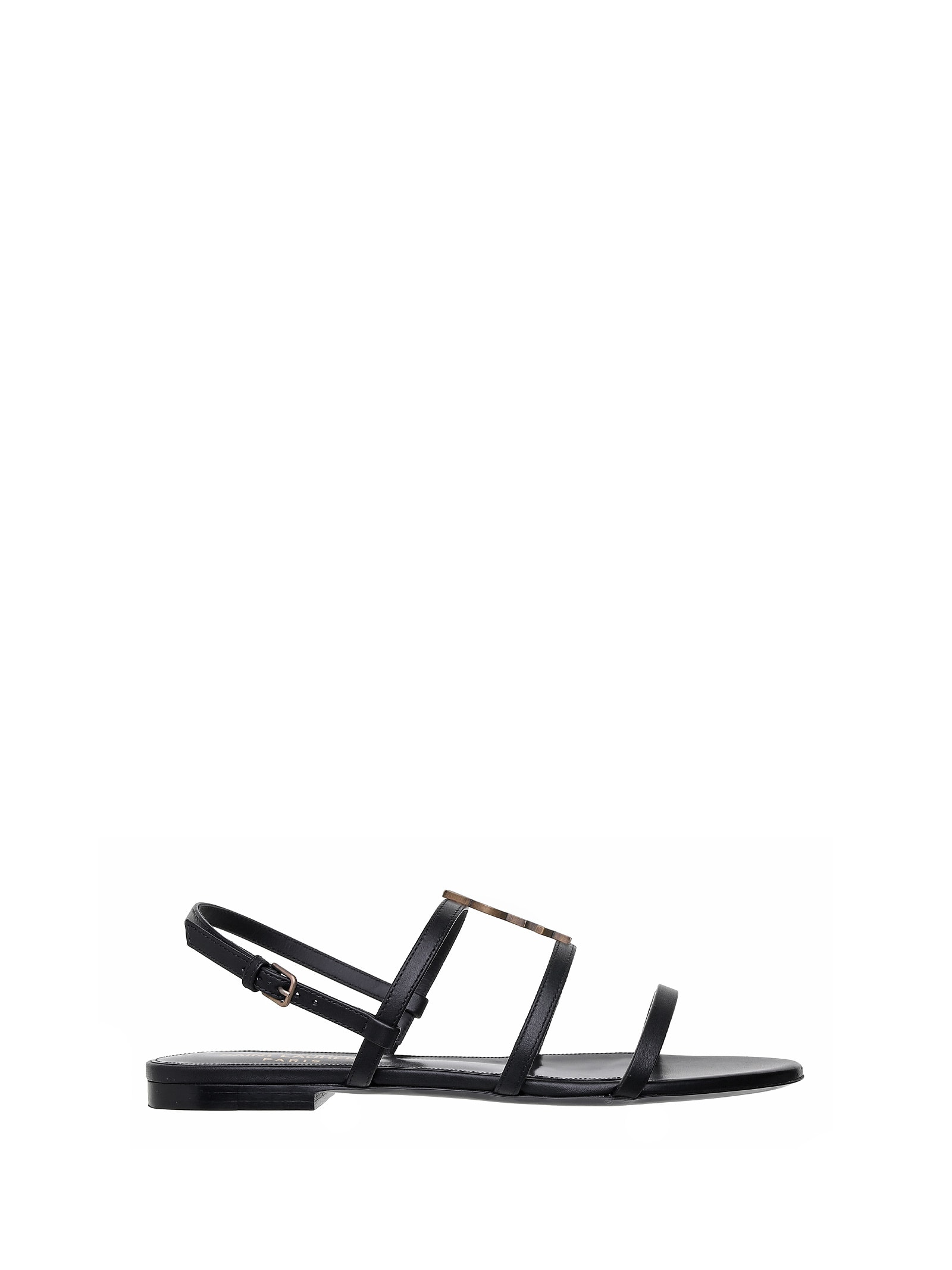 Saint Laurent Saint Laurent Cassandra Monogram Flat Sandals
