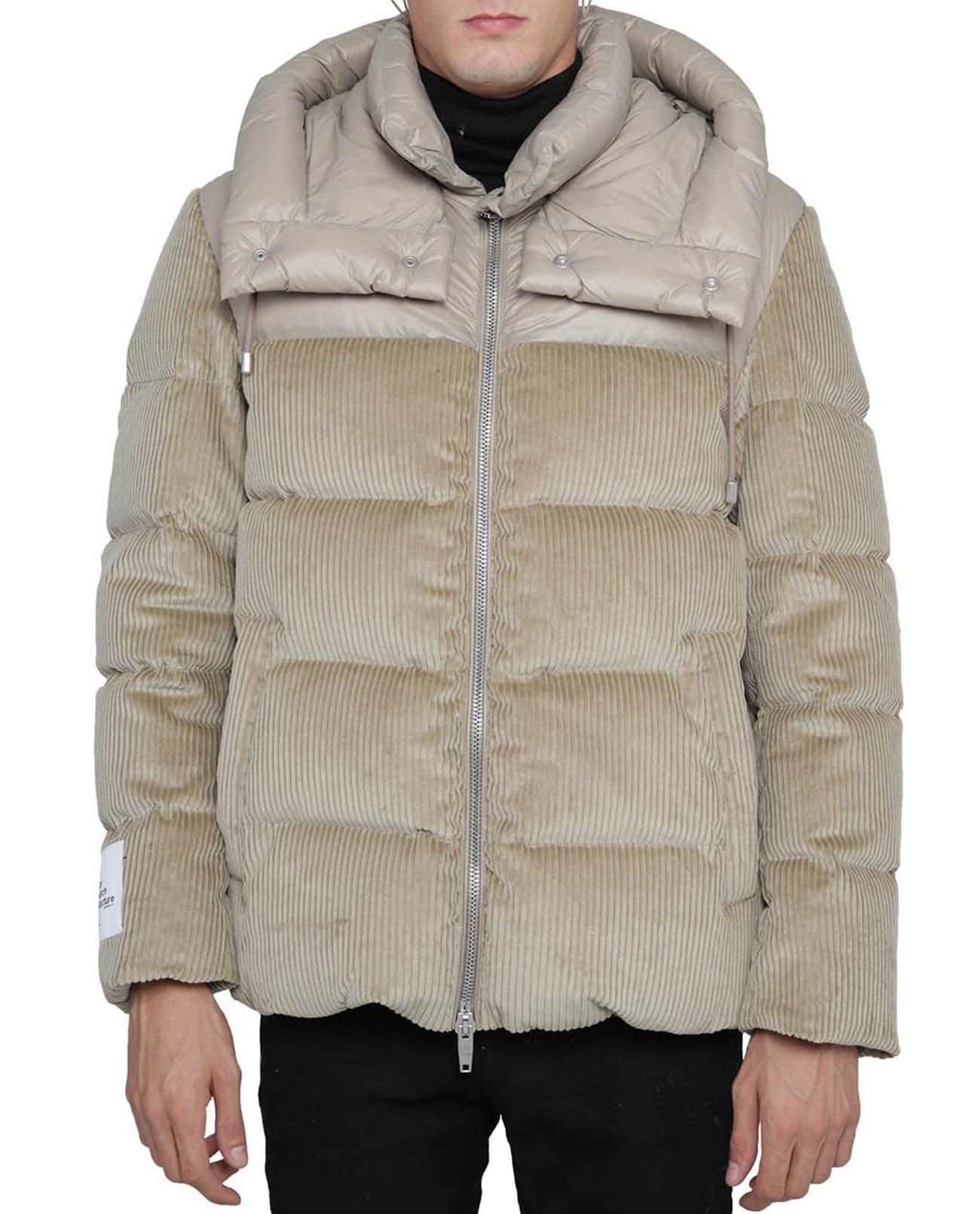 Beige Hybrid Puffer Jacket