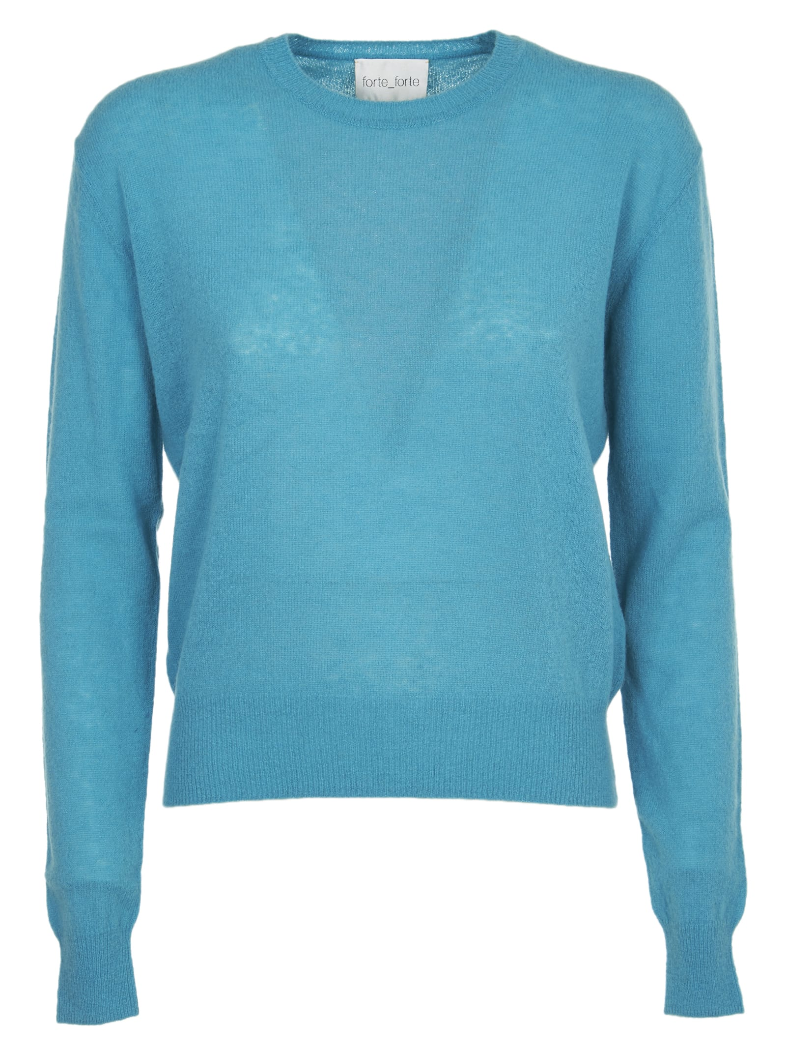 Forte Forte Peacock Blue Sweater In Pavone
