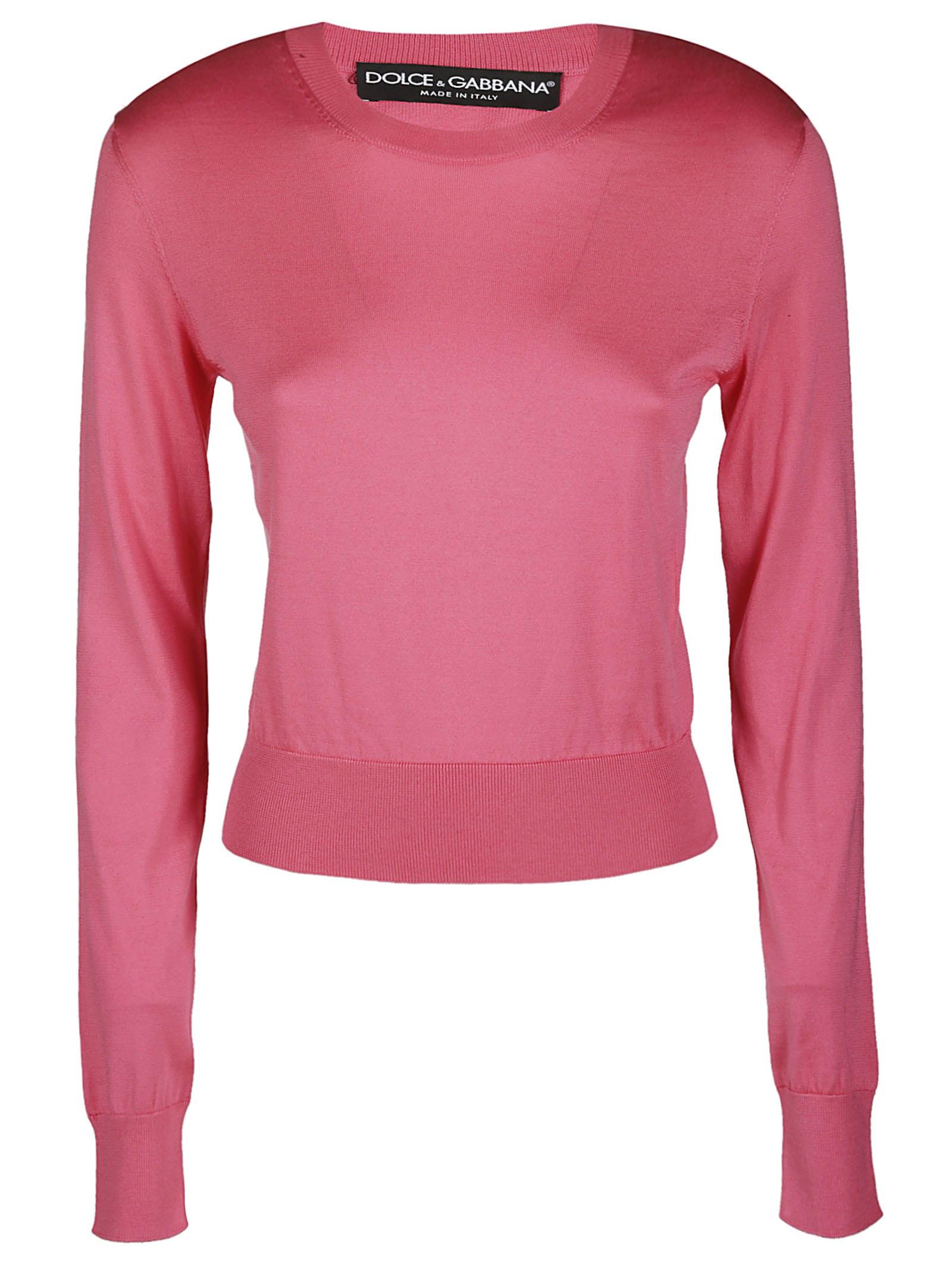 Dolce & Gabbana Pink Silk Jumper