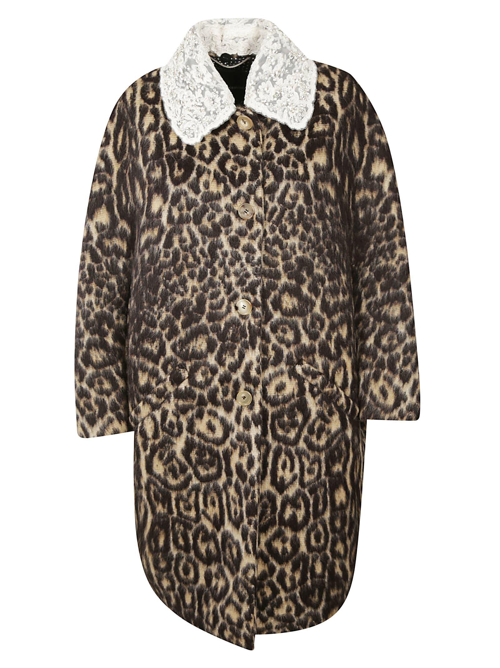Ermanno Scervino Leopard Printed Coat