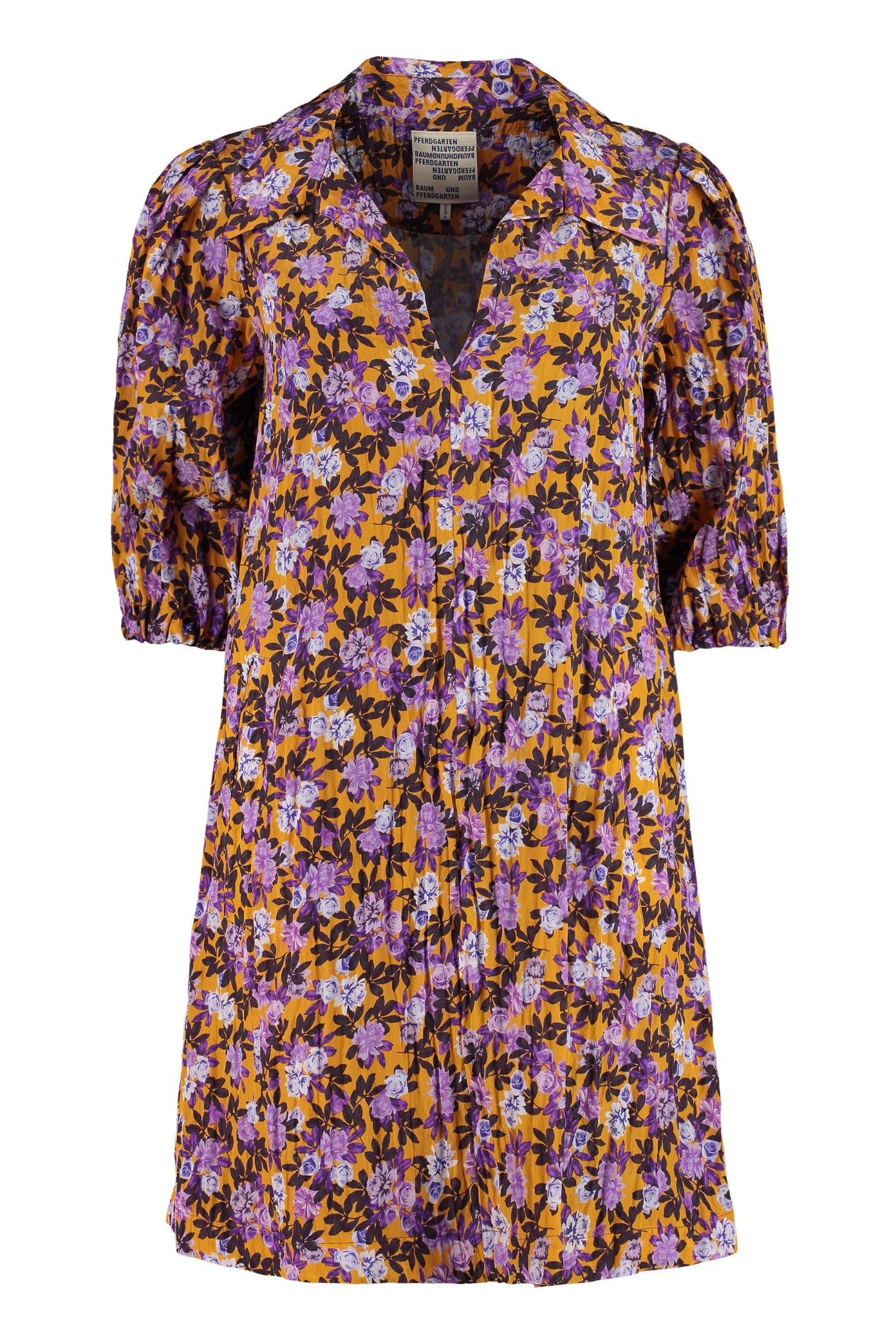 Buy Baum und Pferdgarten Avagail Printed Satin Dress online, shop Baum und Pferdgarten with free shipping