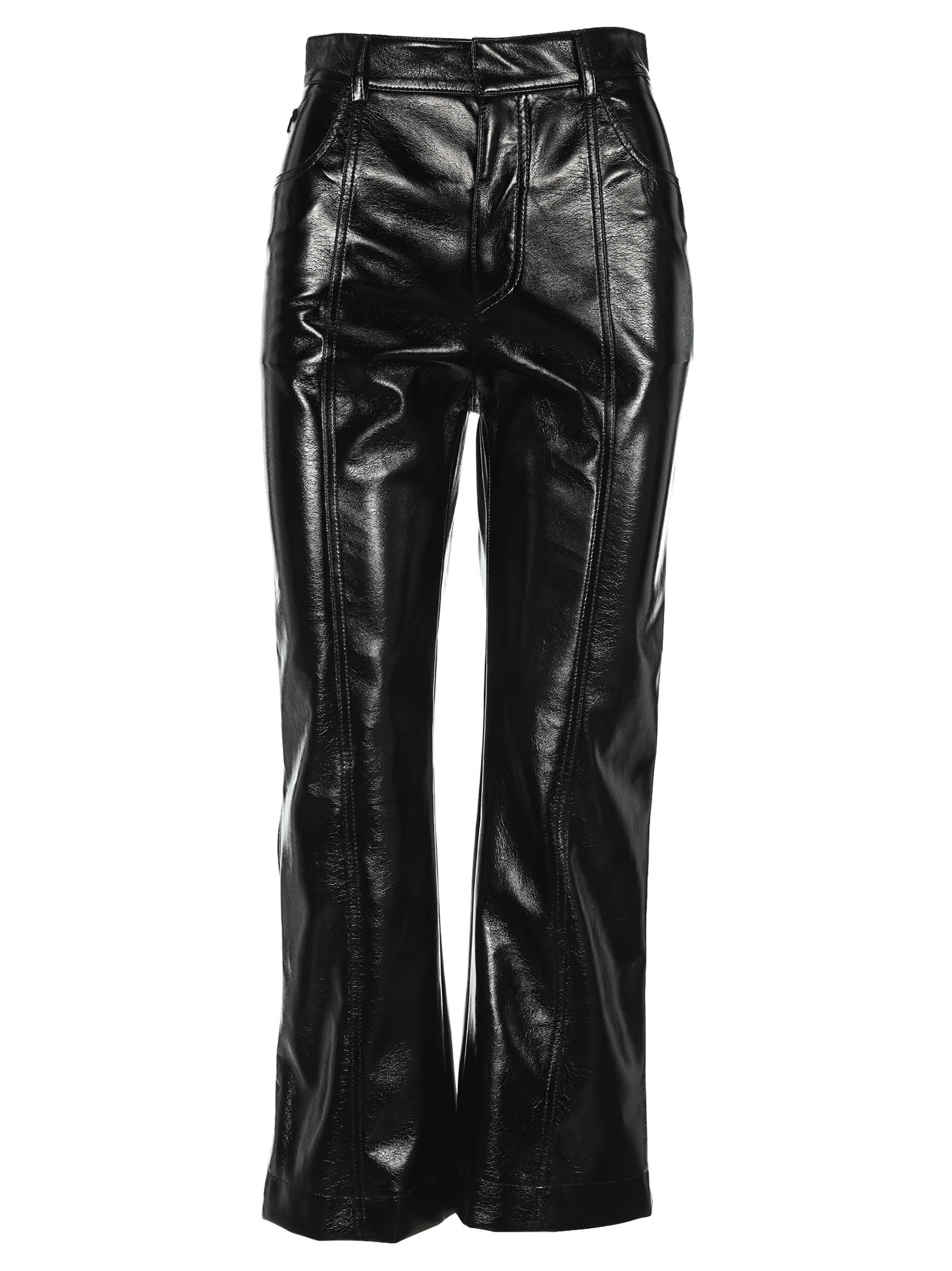 Philosophy Polished-effect Cropped Trousers