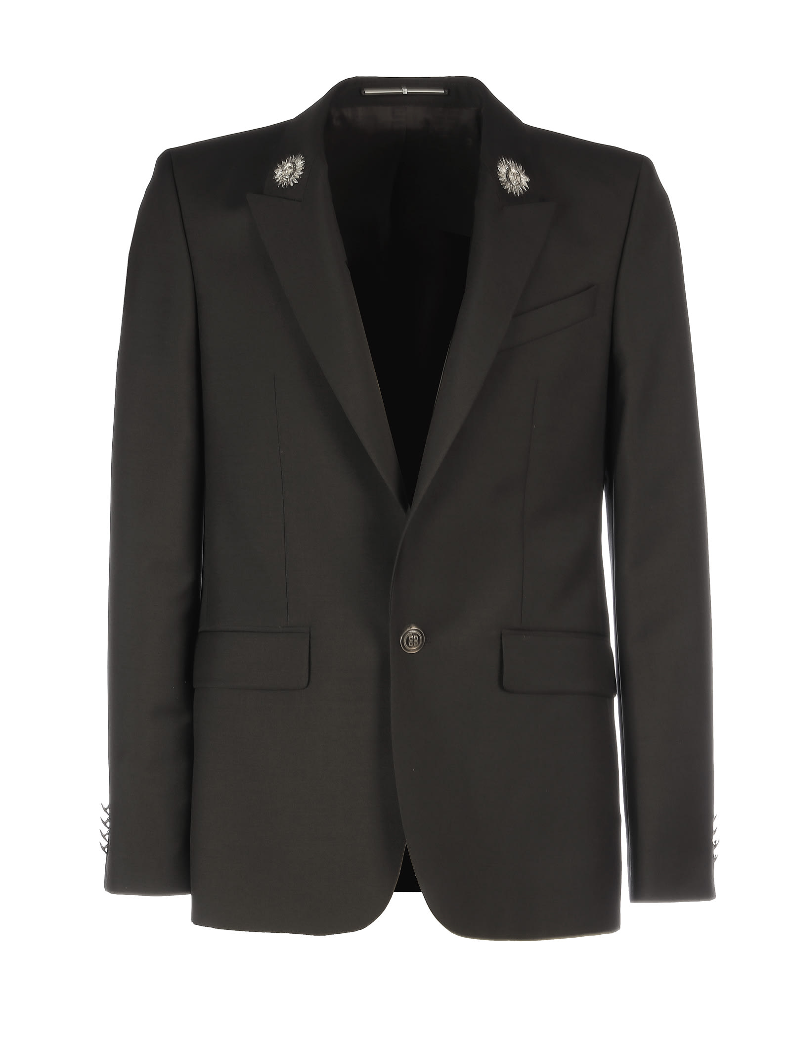 Givenchy Jacket With Sun Details In Black