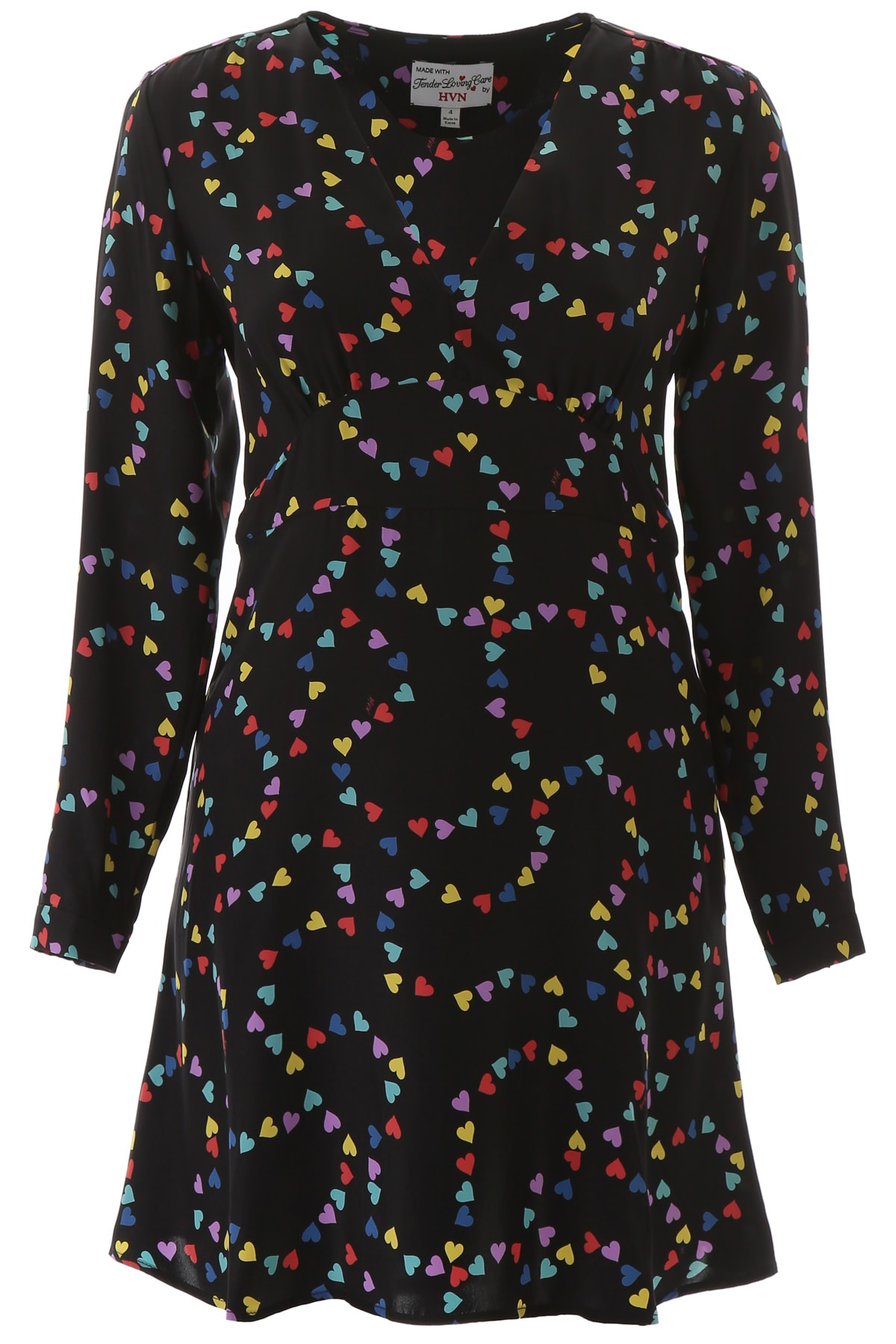 HVN Rainbow Hearts Mini Dress