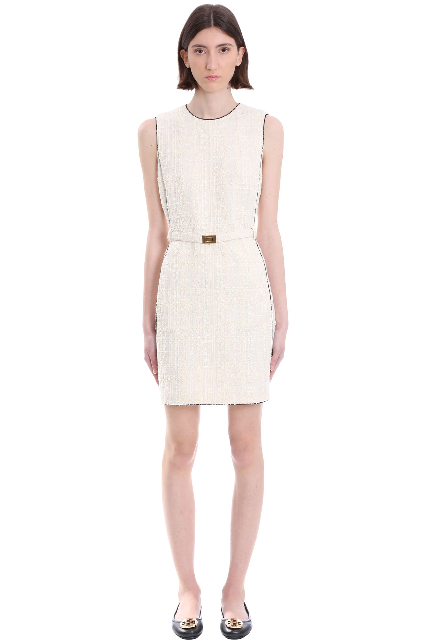 Buy Tory Burch Dress In Beige Polyester online, shop Tory Burch with free shipping