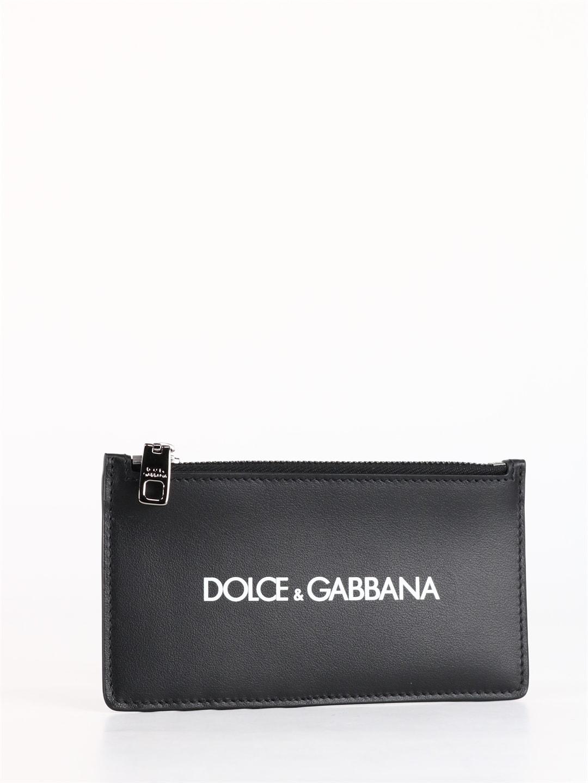 Dolce & Gabbana Cardholders LOGO LEATHER WALLET