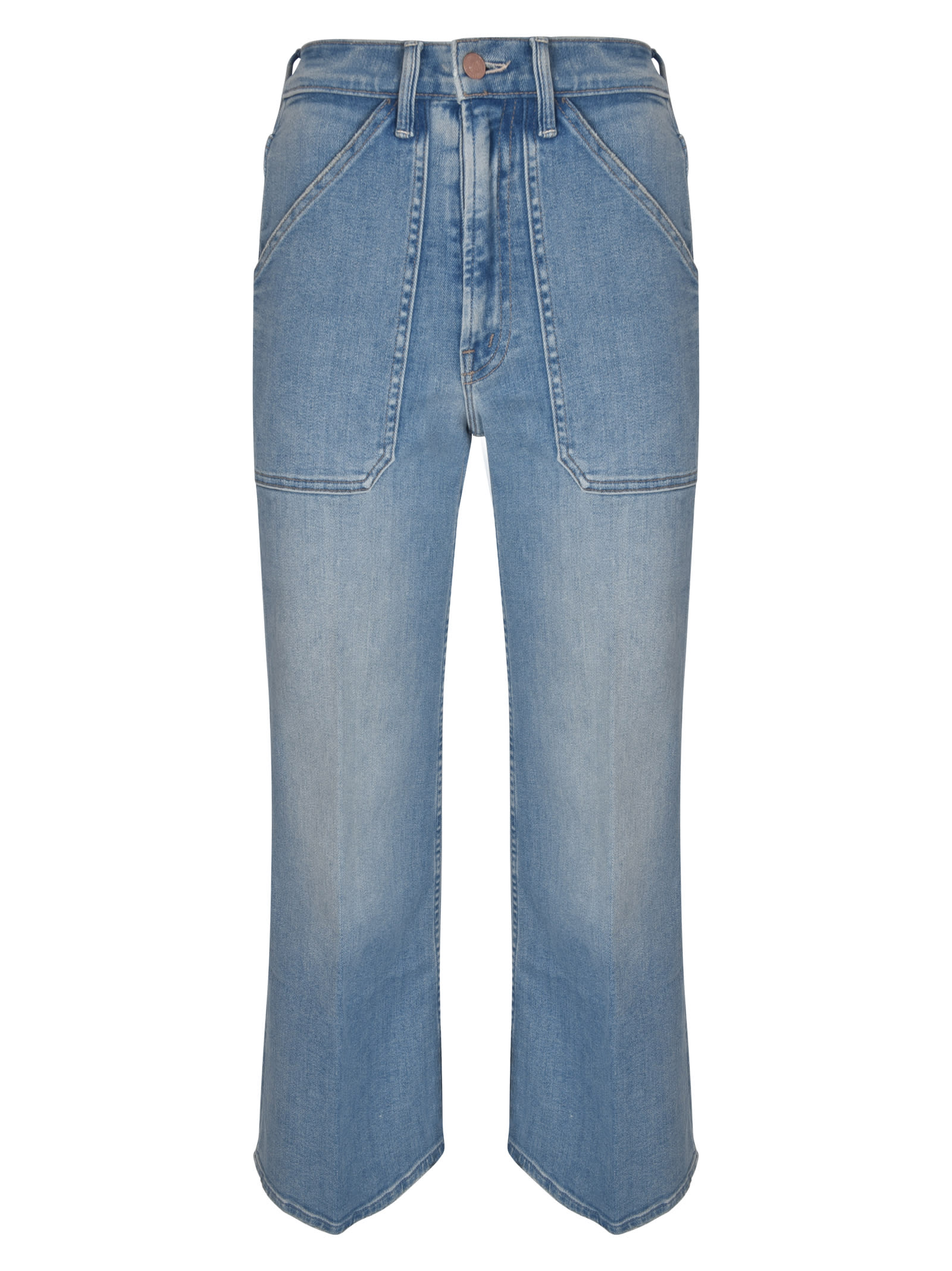 Mother Cottons THE PATCH RAMBLER ROLLER ANKLE JEANS