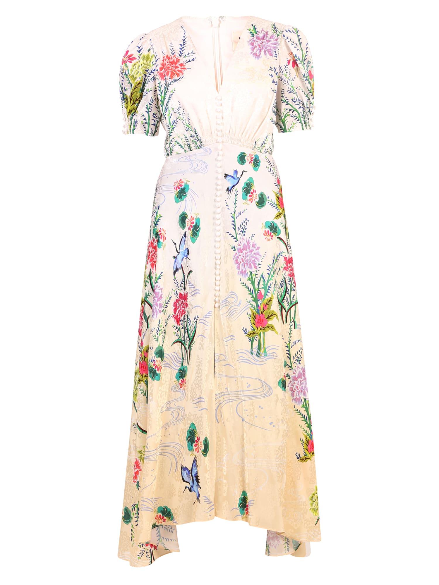 Saloni FLORAL MOTIF DRESS