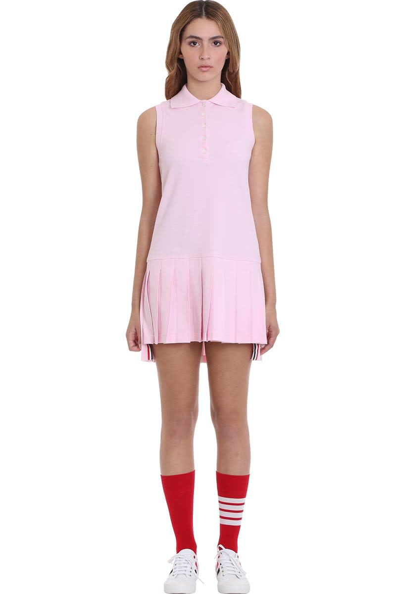 Buy Thom Browne Dress In Rose-pink Cotton online, shop Thom Browne with free shipping