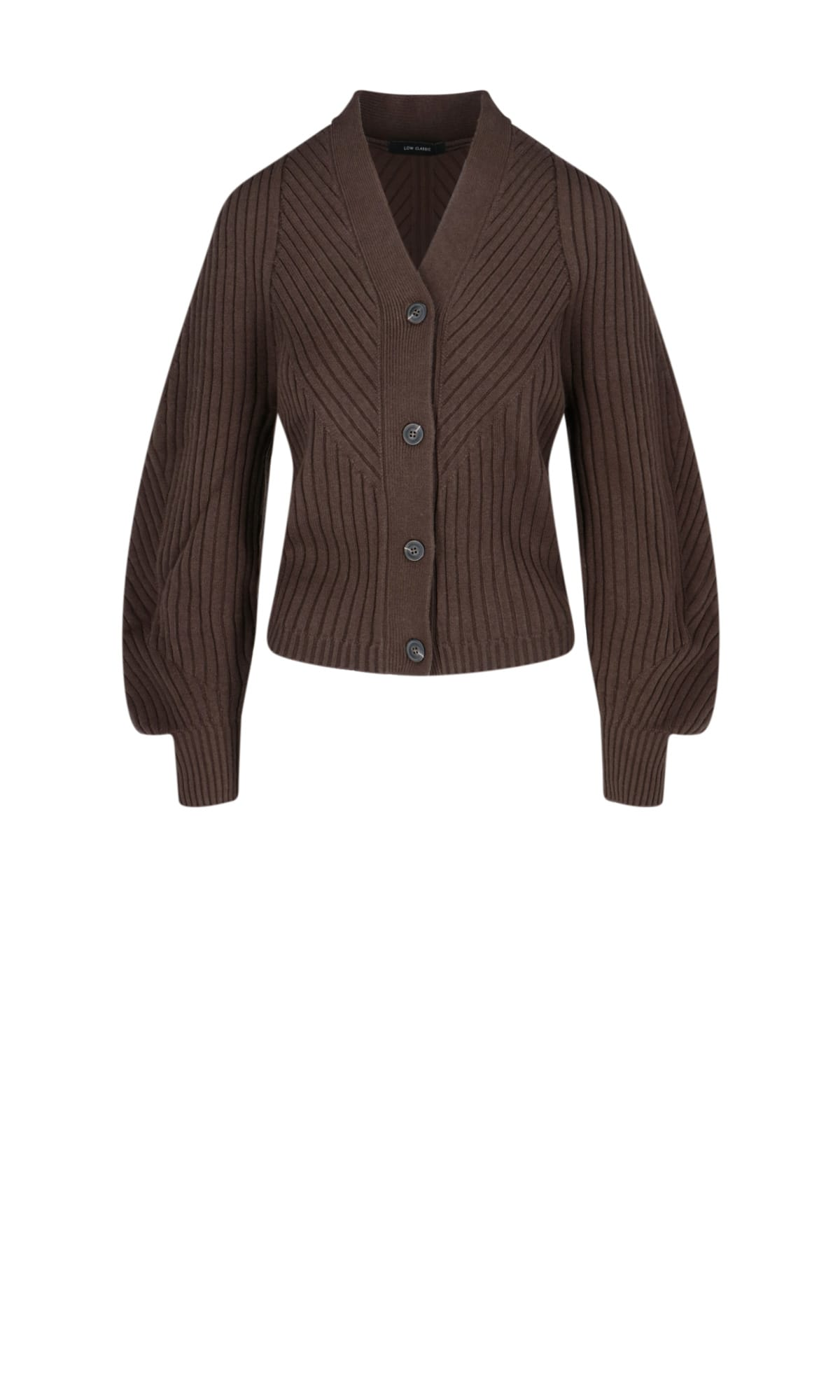Low Classic RIBBED CARDIGAN