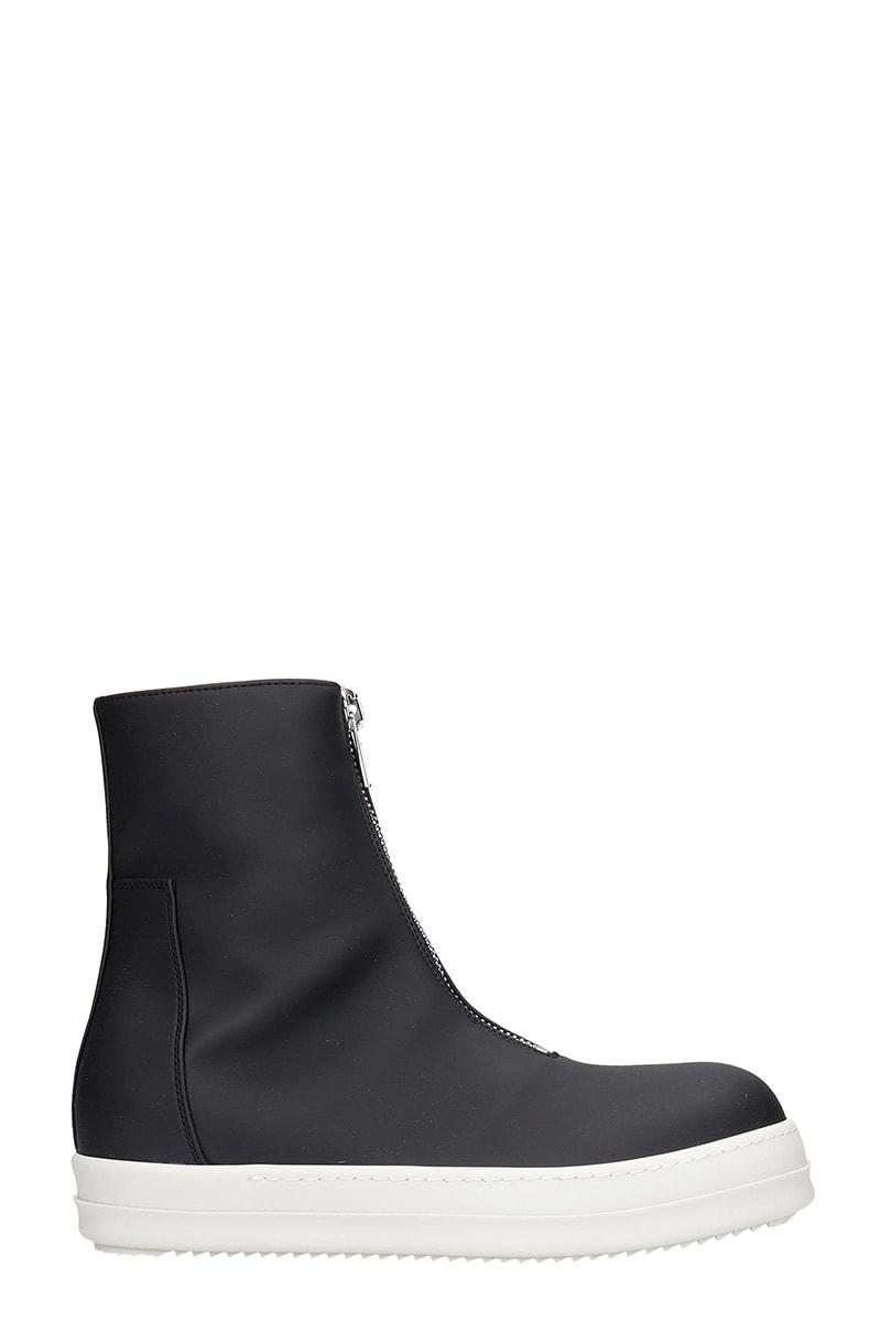 DRKSHDW Zip Front Sneakers In Black Polyester